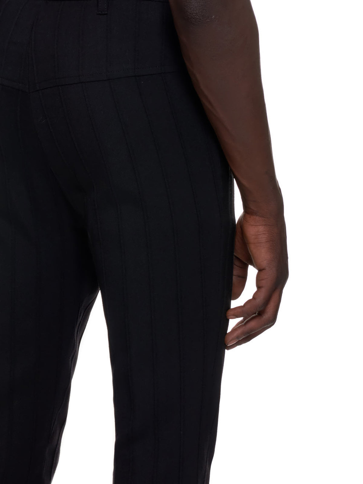 Inverted Check Dress Trousers (2002-1404-P-176-099-BLACK)