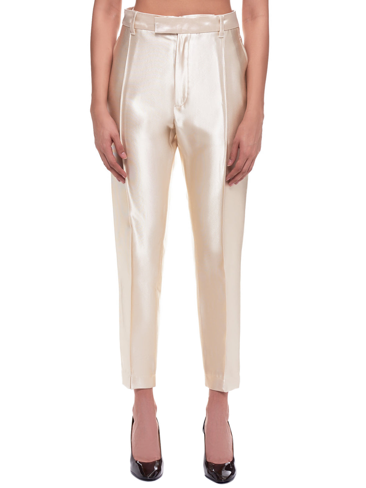 Silenus Shiny Trousers (2002-3406-196-003-IVORY)