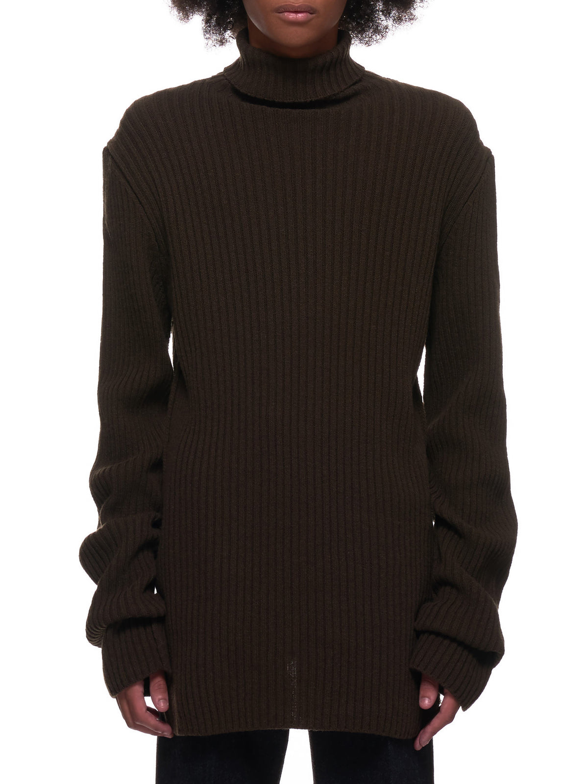 Knitted Turtleneck Sweater (2002-4012-250-049-KHAKI)