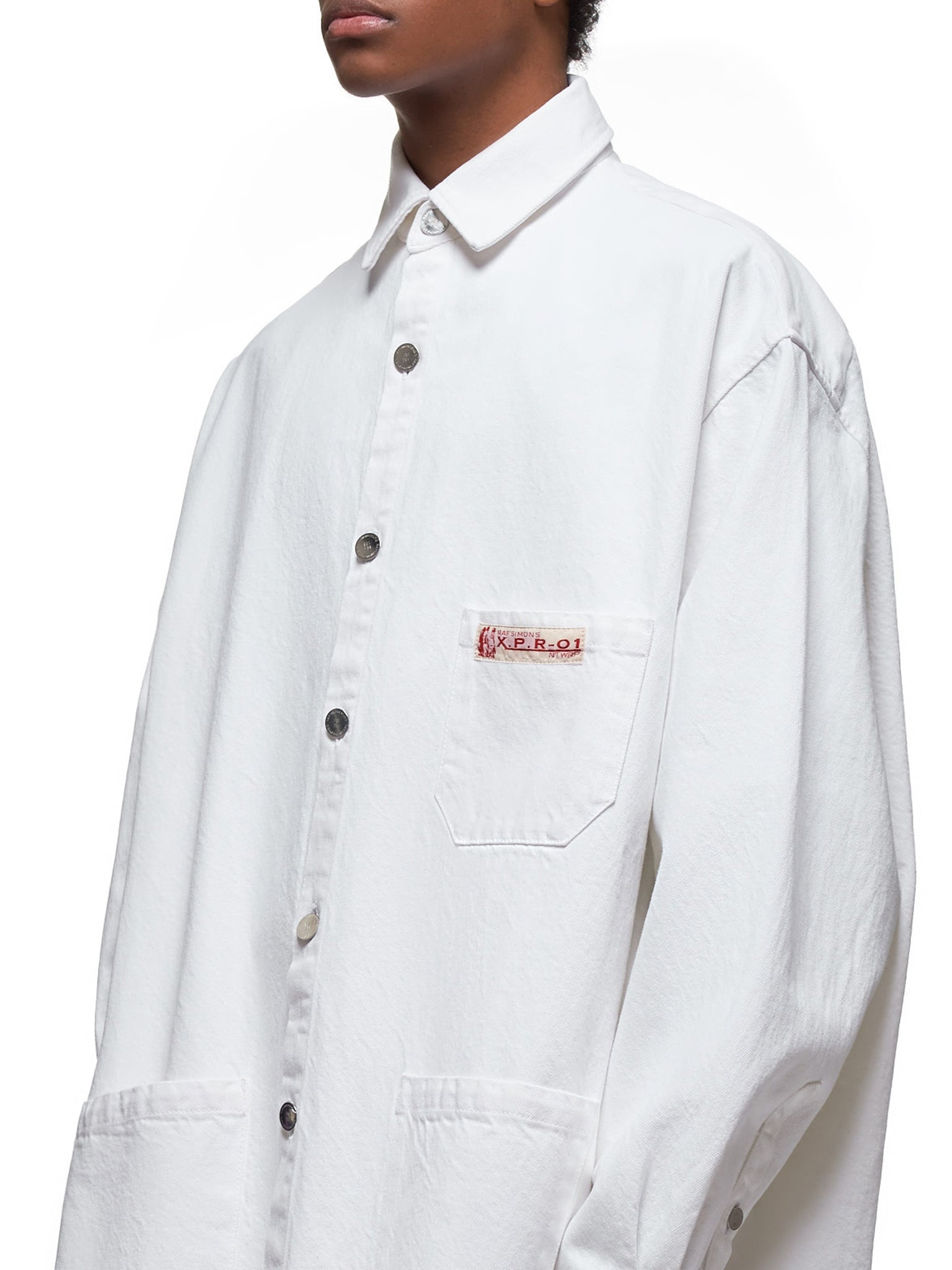 Oversized Denim Work Shirt (201-248-WHITE)