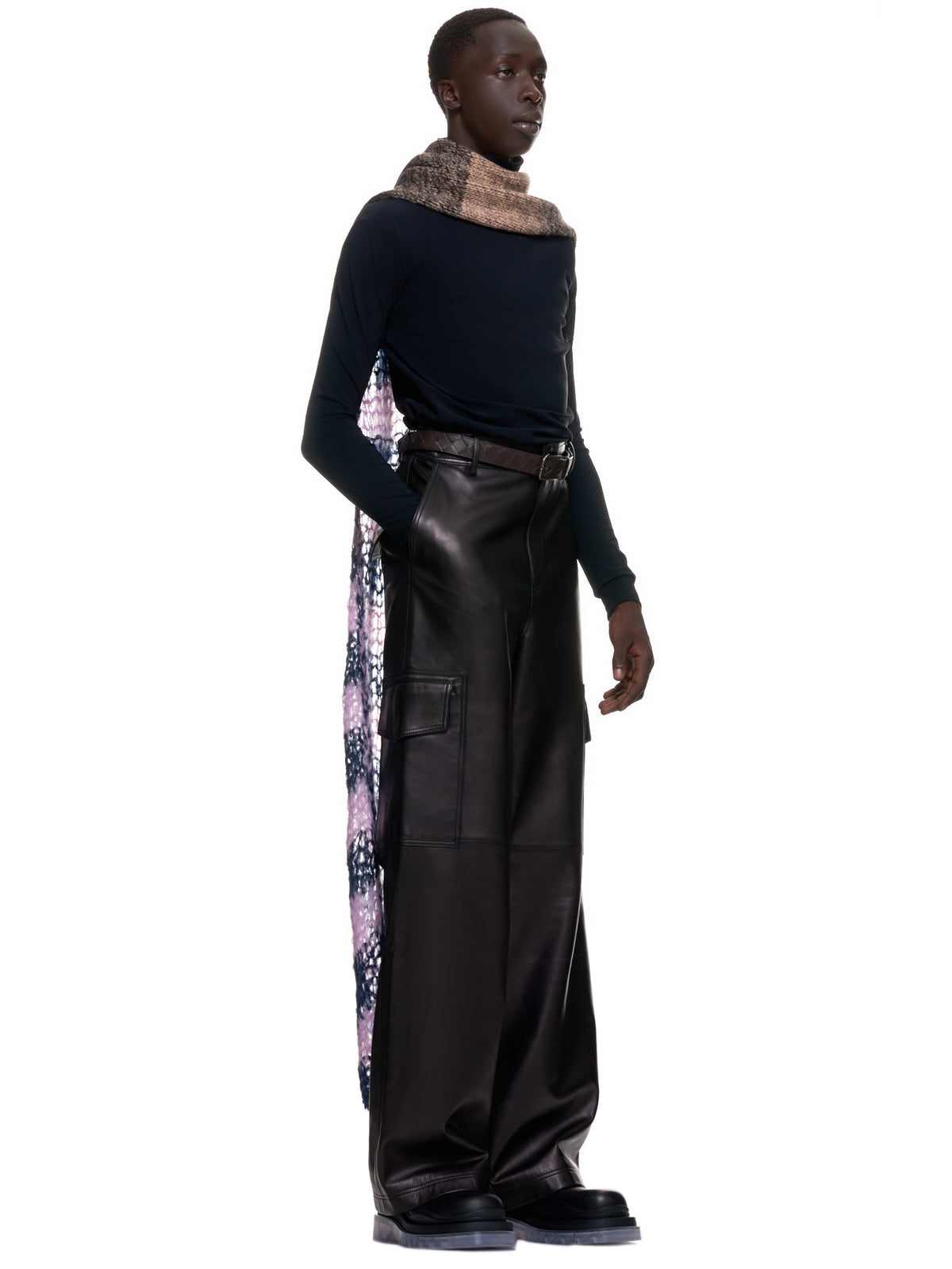 Uneven Stripe Extreme Long Slim Scarf (202-844-50017-STRIPE)