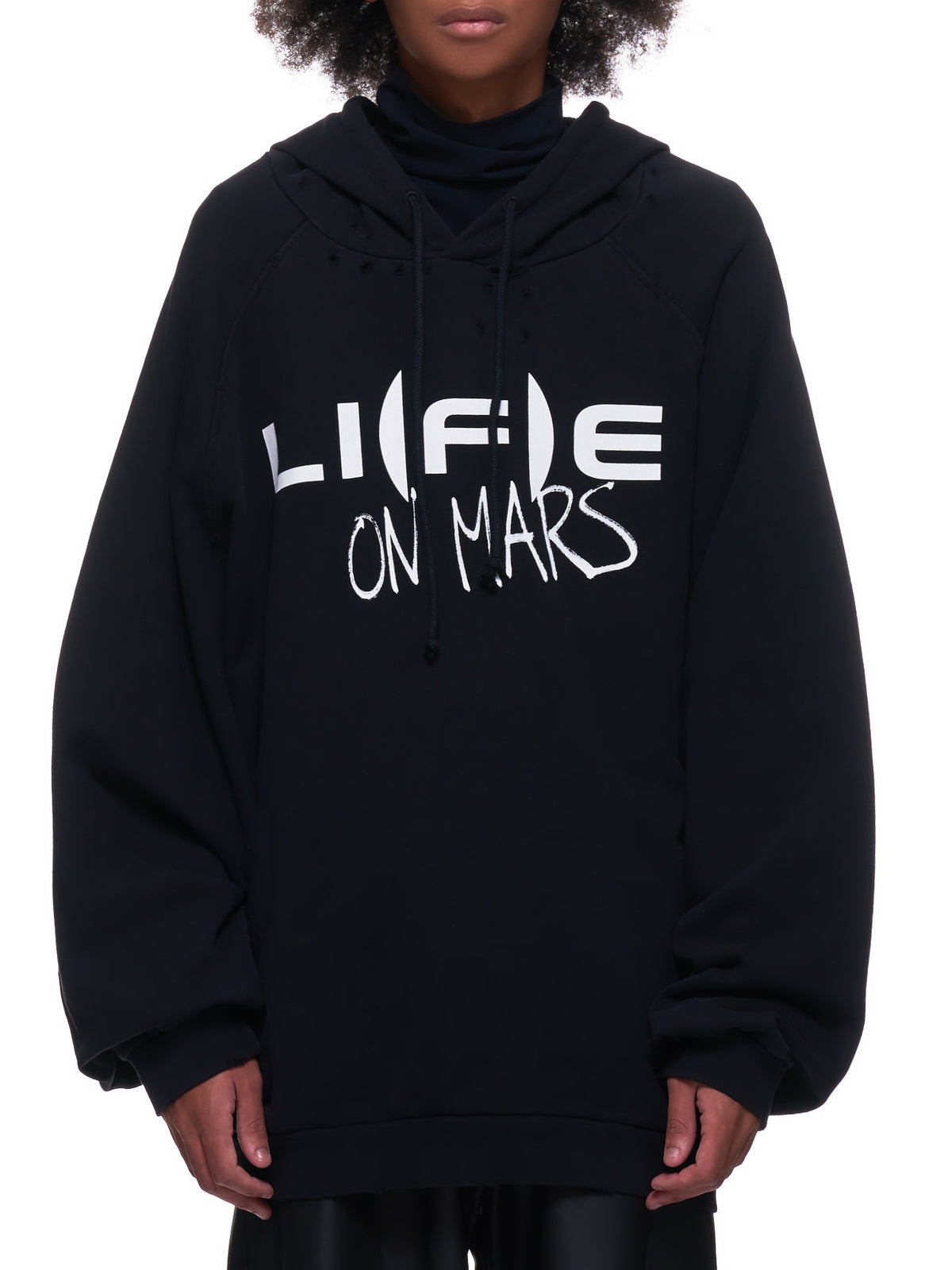 Oversized Printed Hooded Sweatshirt (202-175A-19004-BLACK)