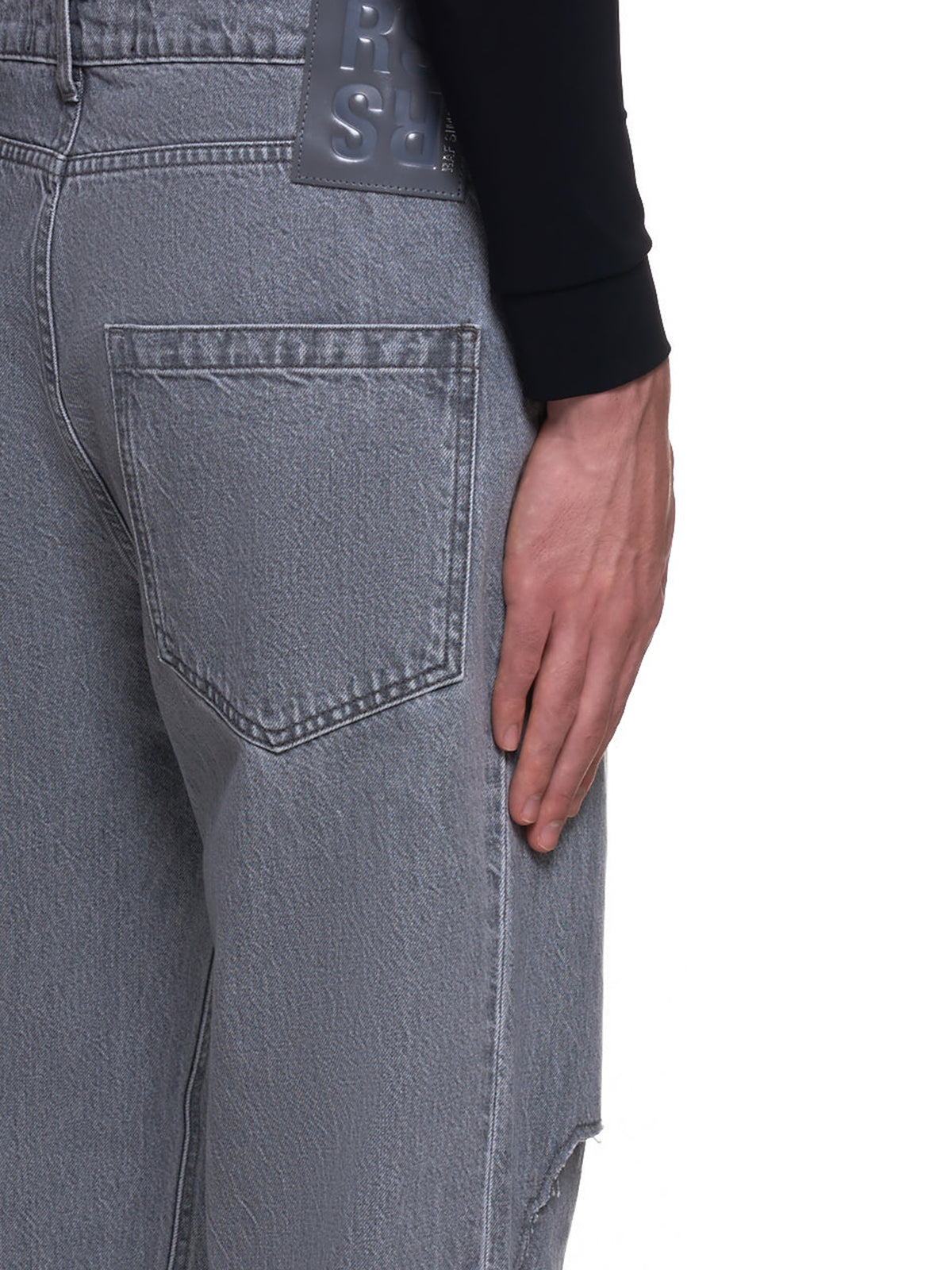 Relaxed Fit Denim Trousers (202-322-10135-LIGHT-GREY)