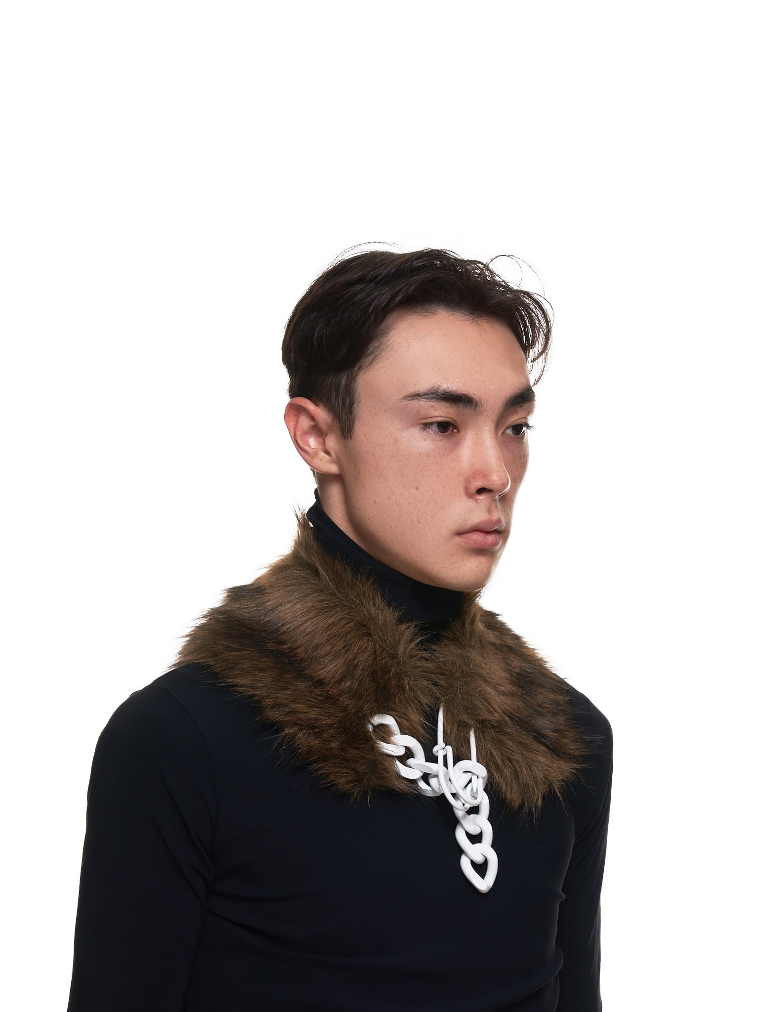 Fur Neck Scarf (202-957A-30011-BROWN)