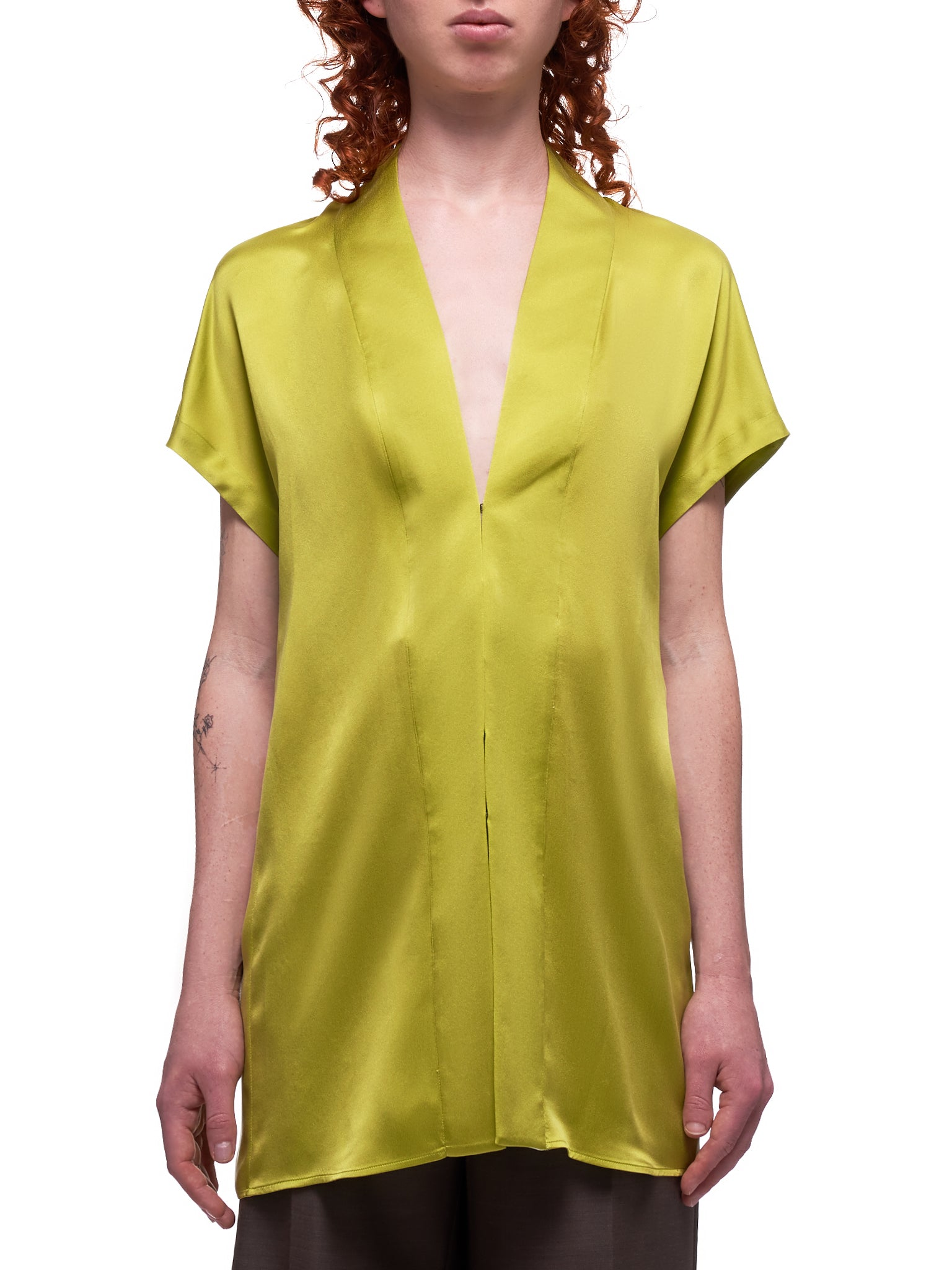 Silk Blouse (203-1820-125-063-GREEN)