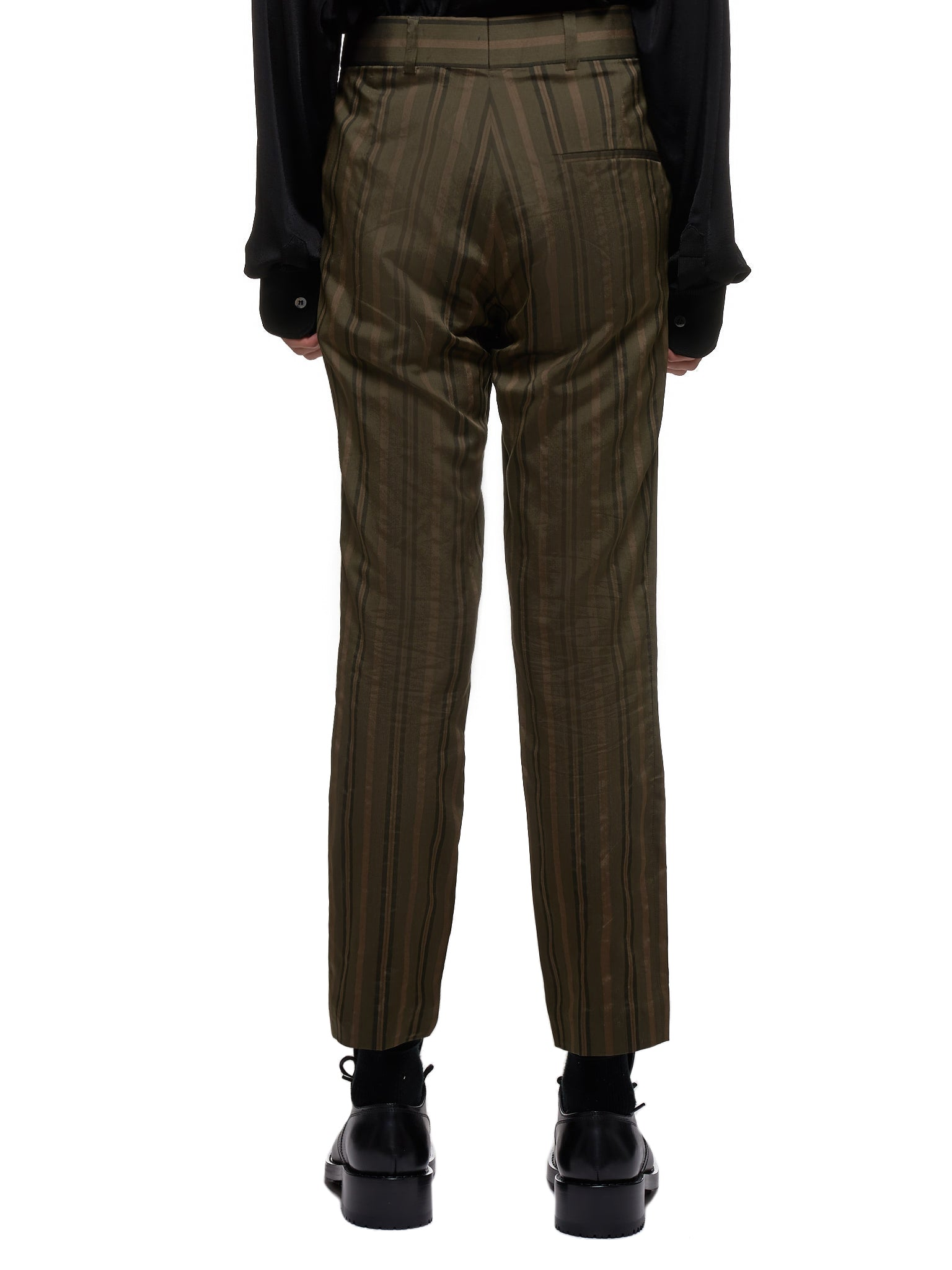 Striped Trousers (203-3400-116-035-KHAKI-BROWN)