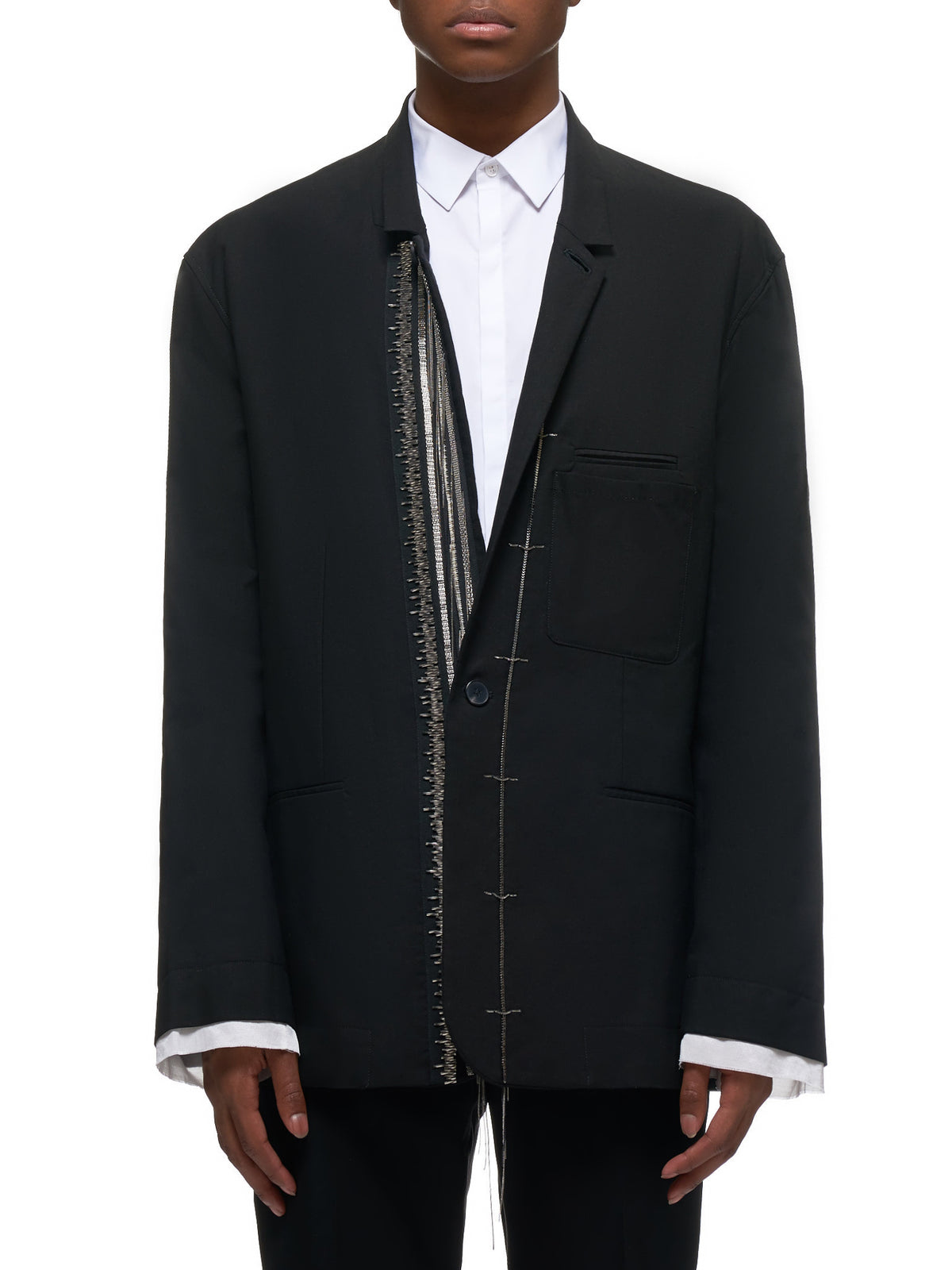Embroidered Shirt Jacket (203-3613-B-E-421-099-BLACK)