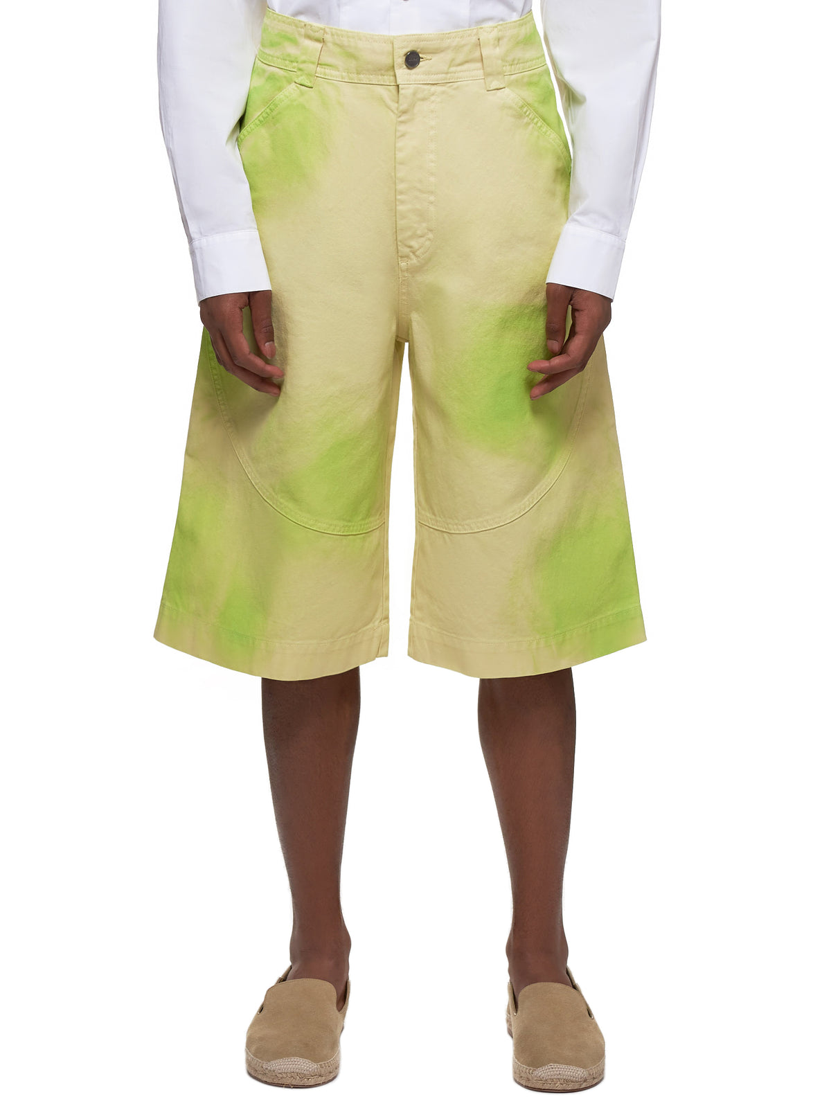 Le Terraio Shorts (205PA08-205-LIME-GREEN)