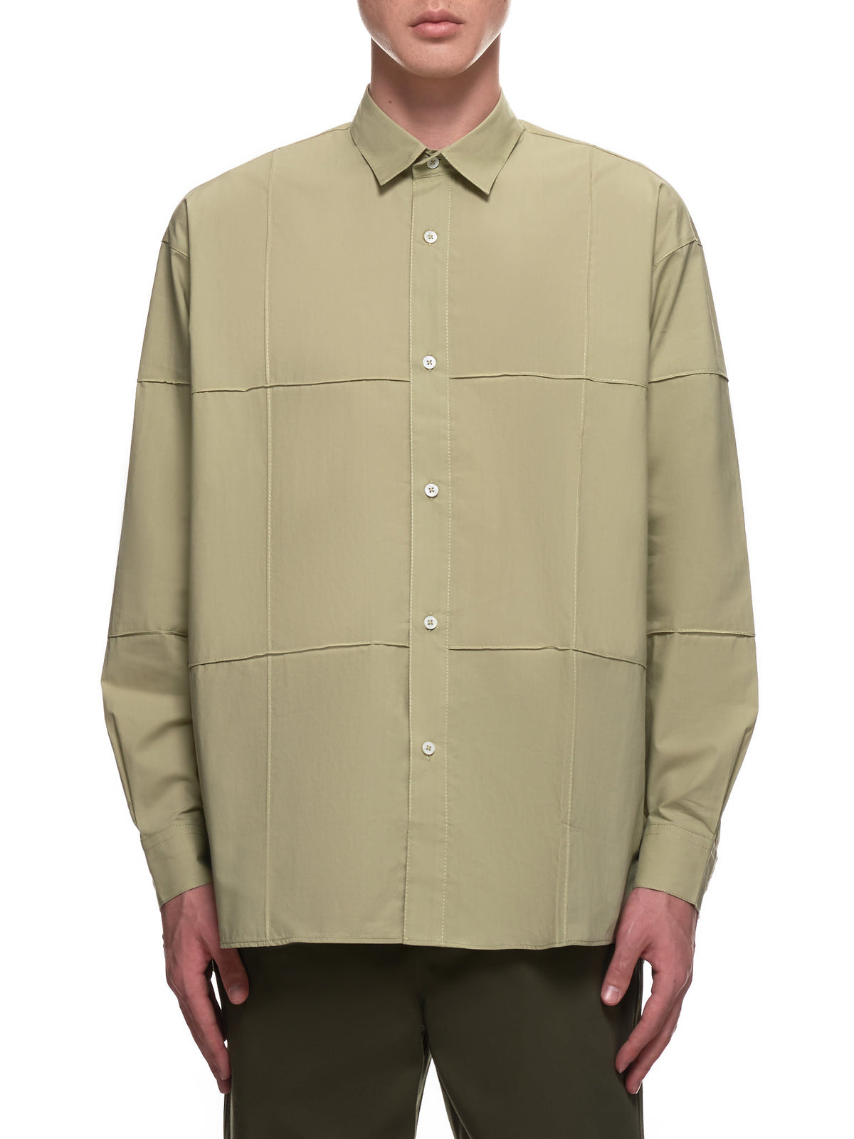 Window Pane Check Shirt (206SH13-122530-LIGHT-KHAKI)