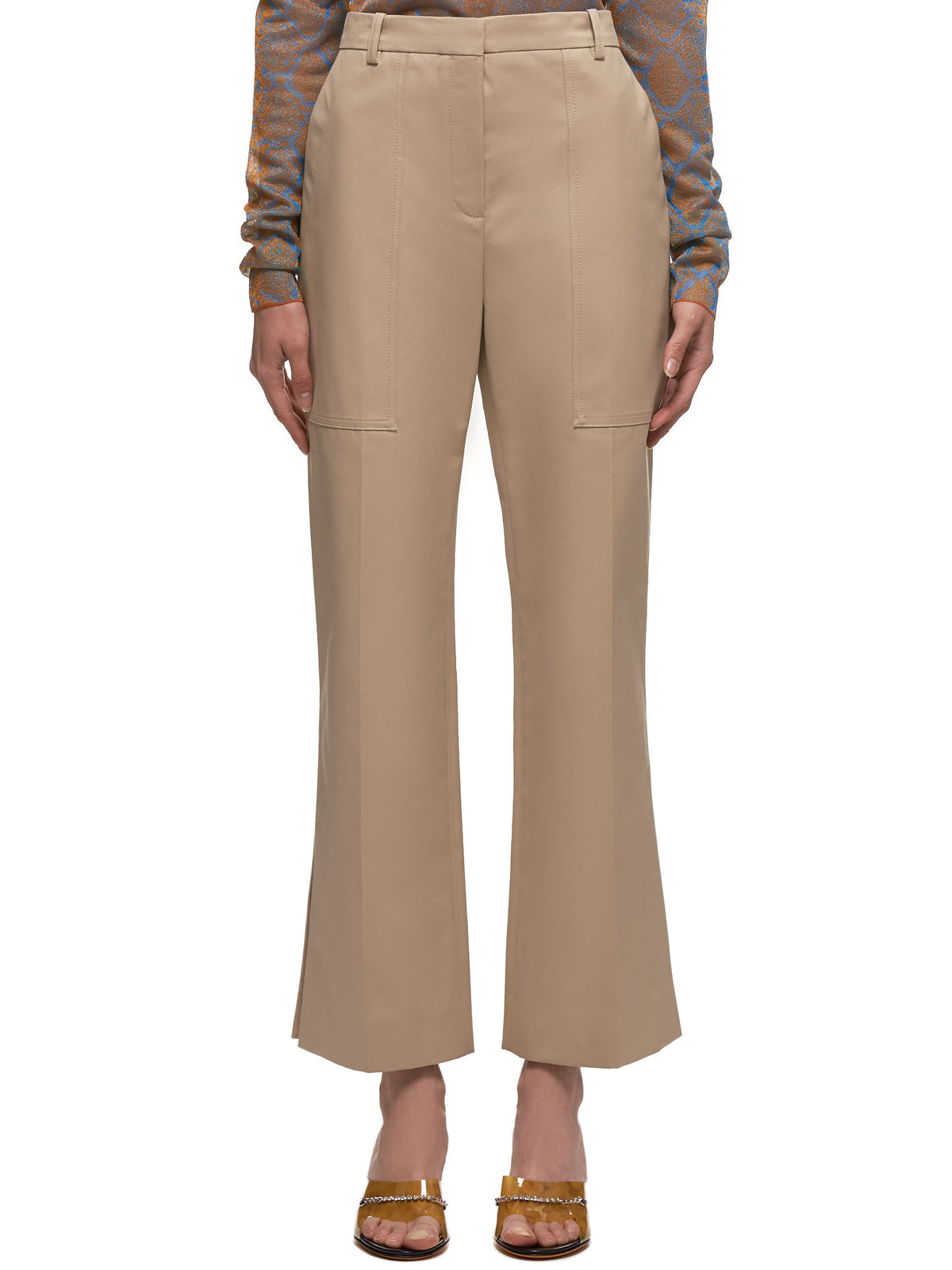 Vented Flare Trousers (20ECPA017CO0916-KHAKI)