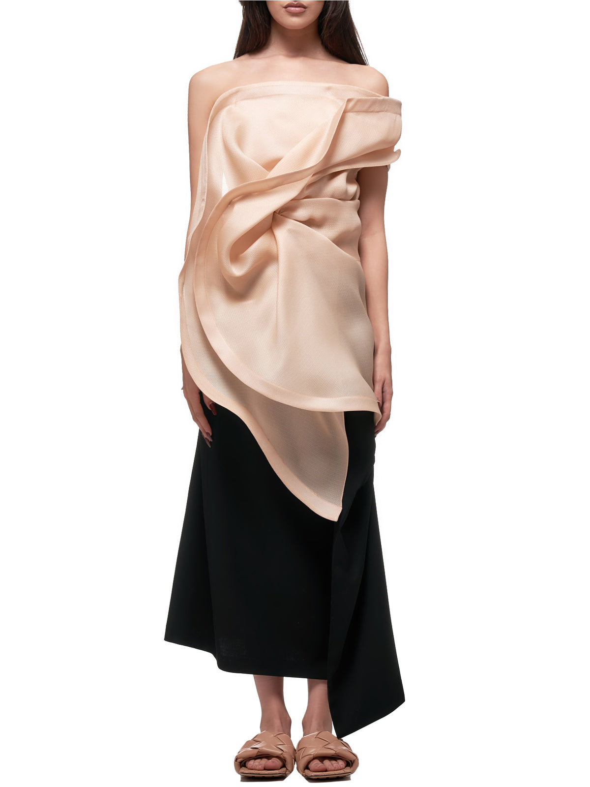 Abstract Twist Top (20ECTO049SE1322-PEACH)