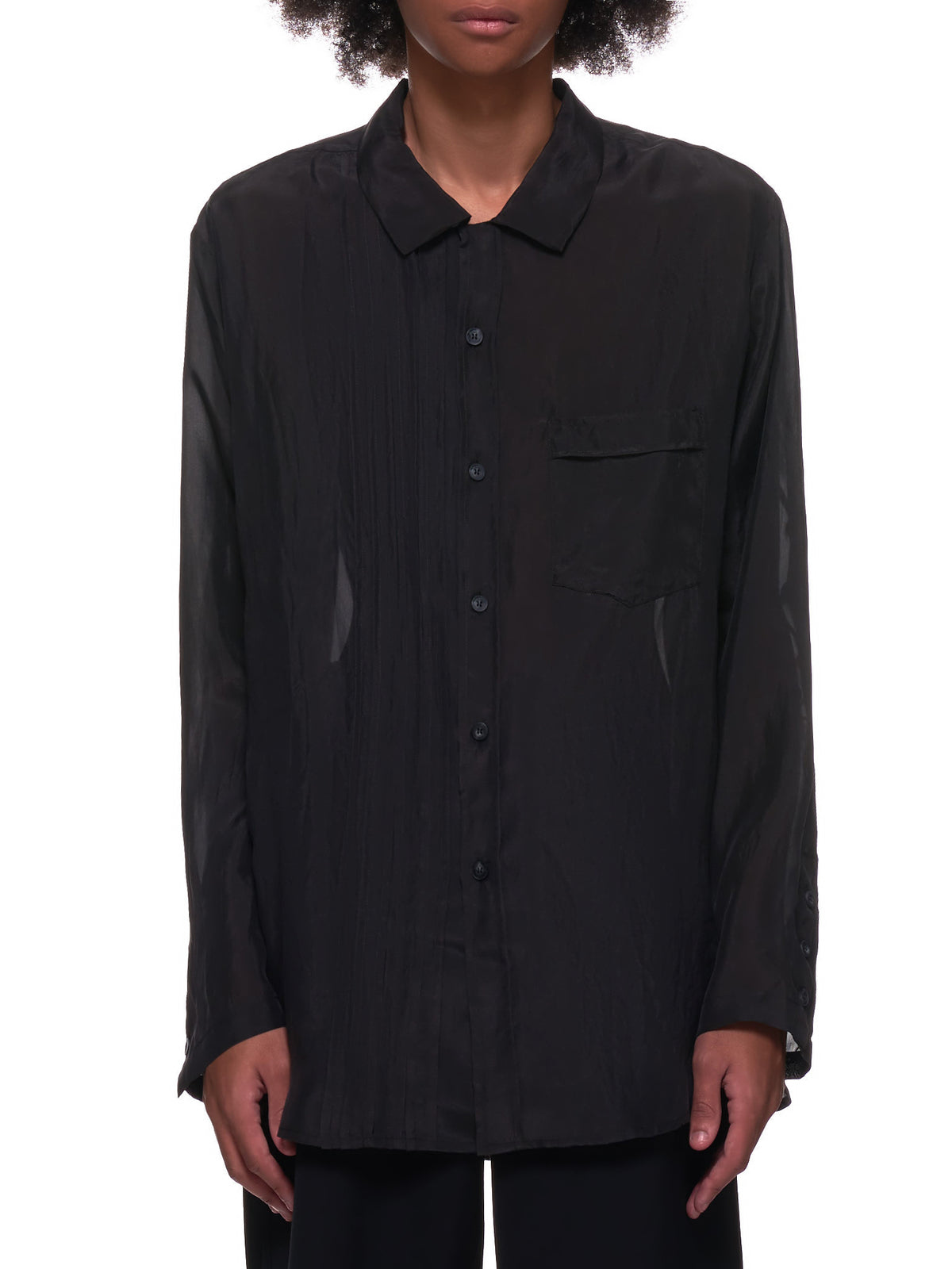 Light Evening Shirt (210851M-CHARCOAL)