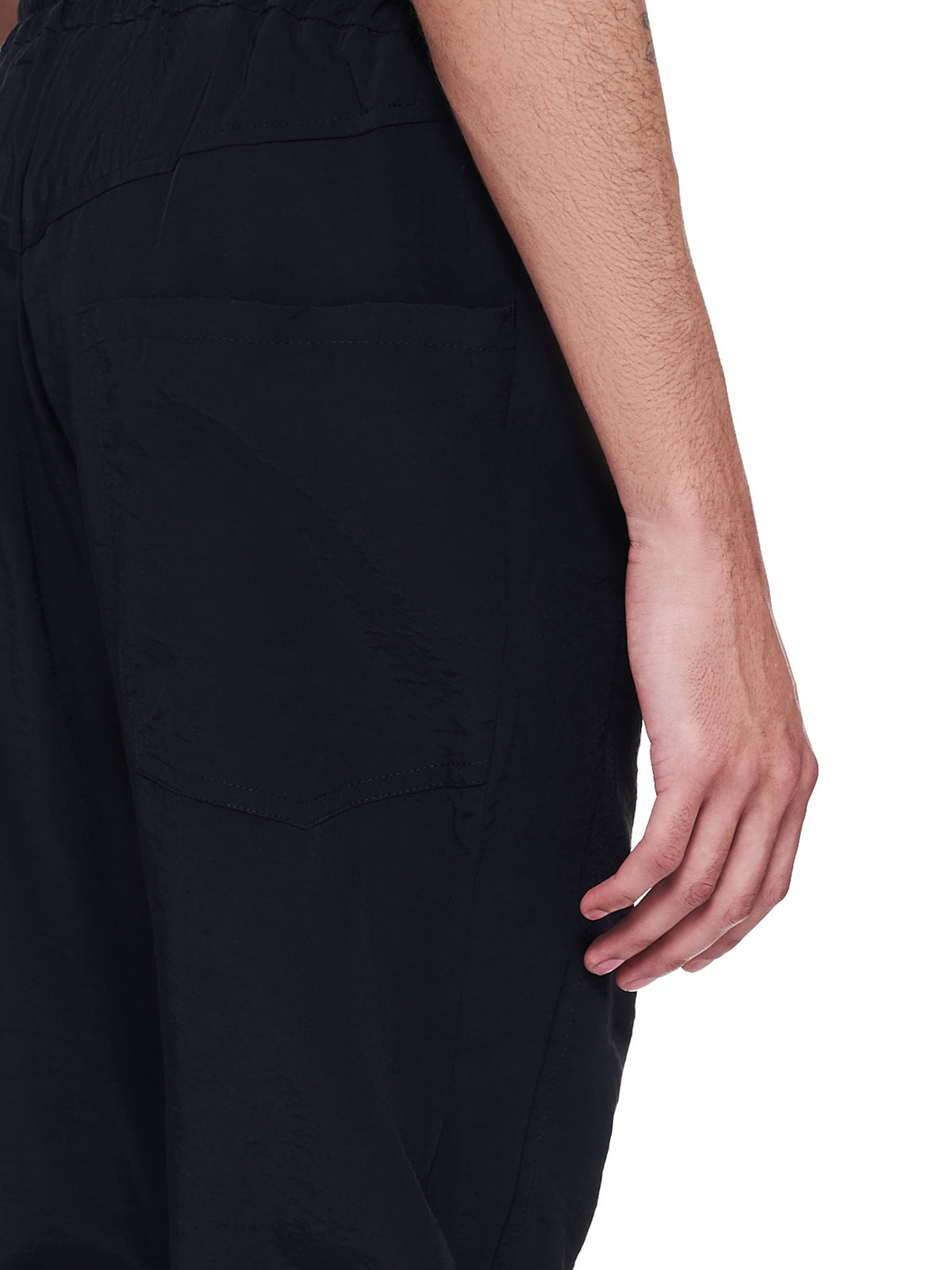 Ribbed Paneled Track Trousers (211-MPT035-BLACK)