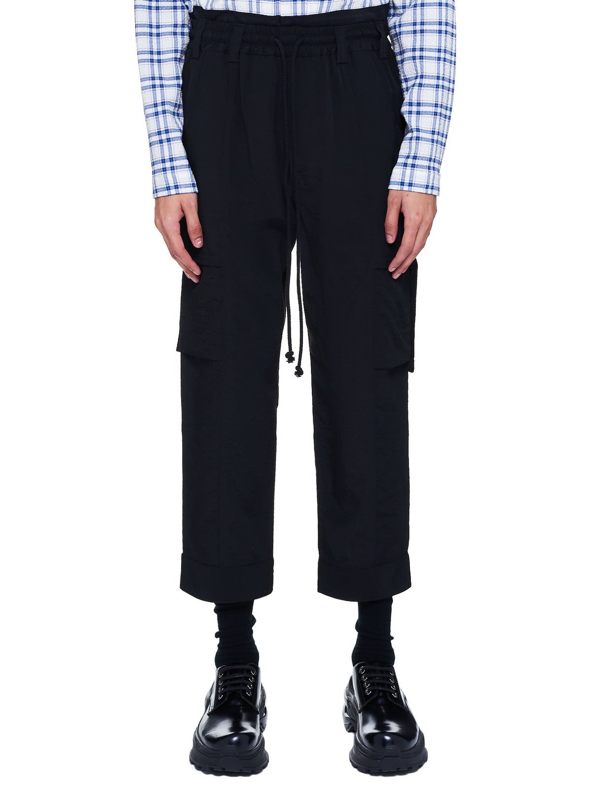 Tabbed Cargo Trousers (211-MPT070-BLACK)
