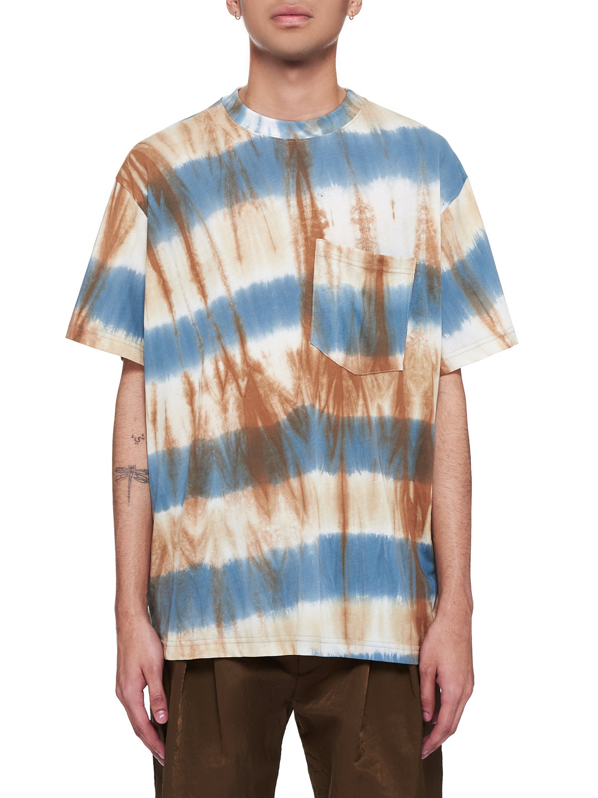 Tie-Dye Patch Pocket T-Shirt (211-MTS033-MULTI)