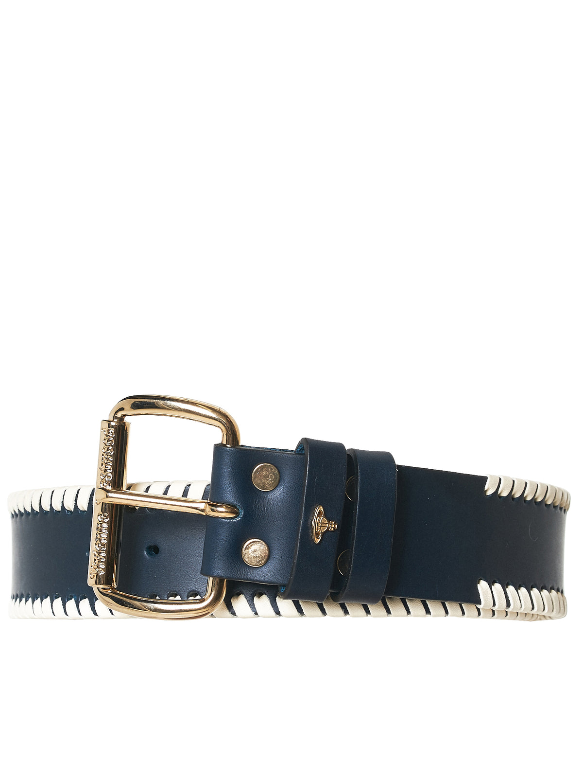 Leather Lace Belt (LB378863-2-BRASS-TU-2RWH)