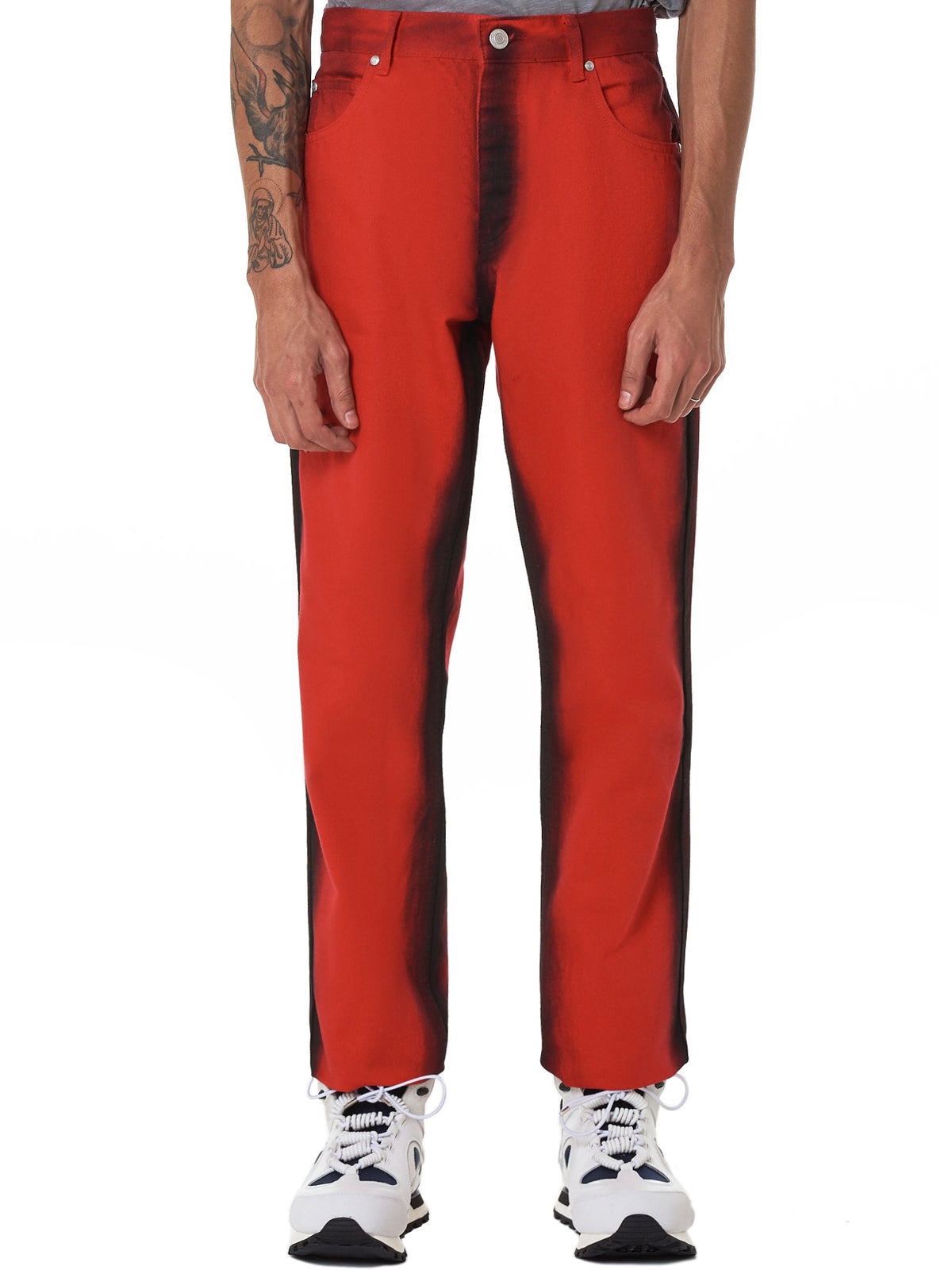 Martine Rose Red Jeans - Hlorenzo Front