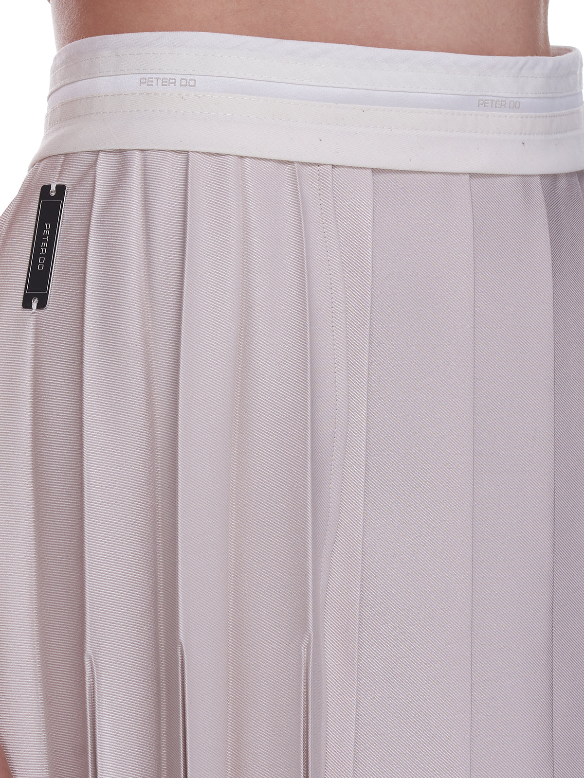 Multi Pleat Wrap Skirt (222-TA009-PORCELAIN)