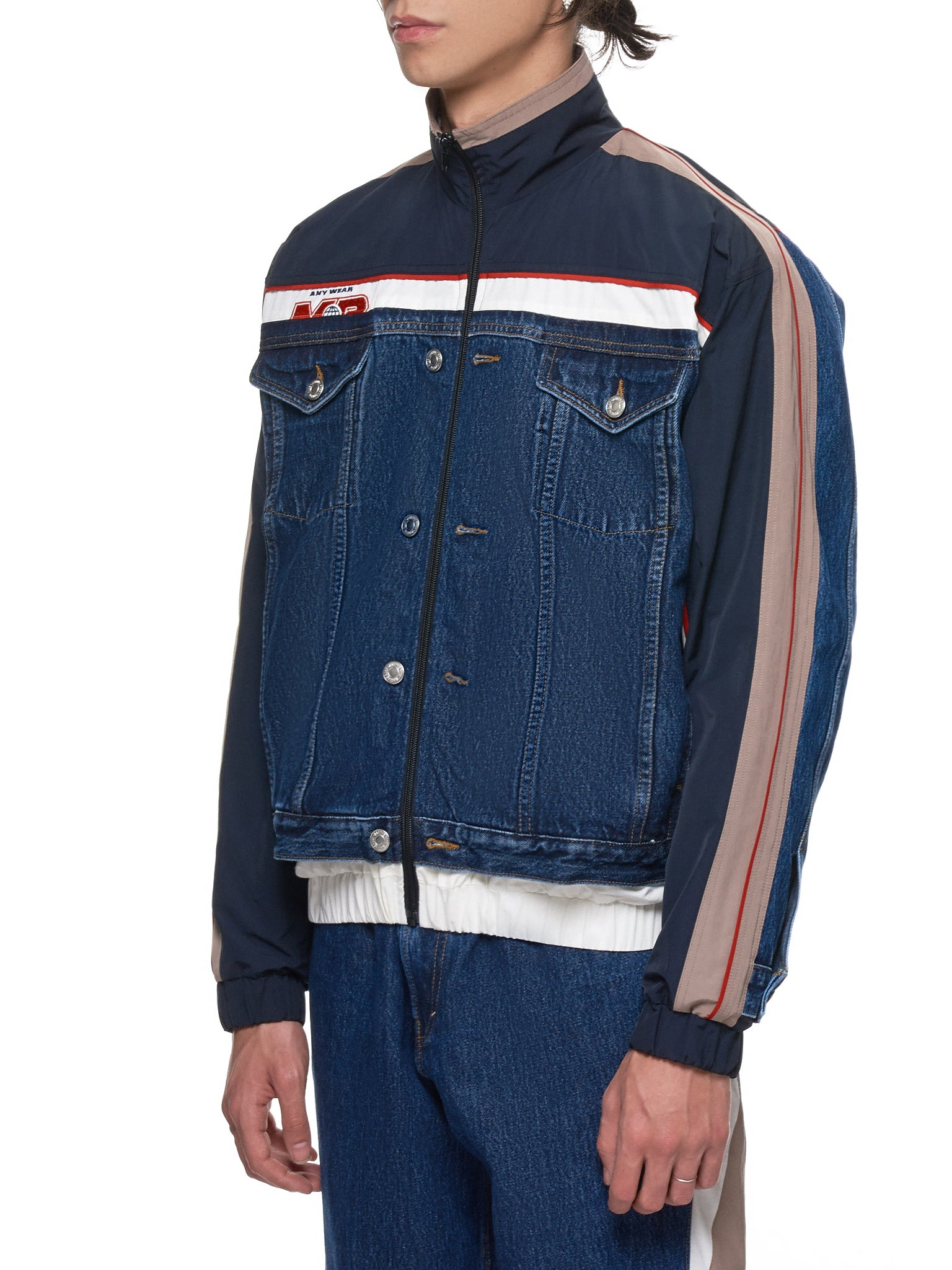 Martine Rose Denim Jacket - Hlorenzo Side