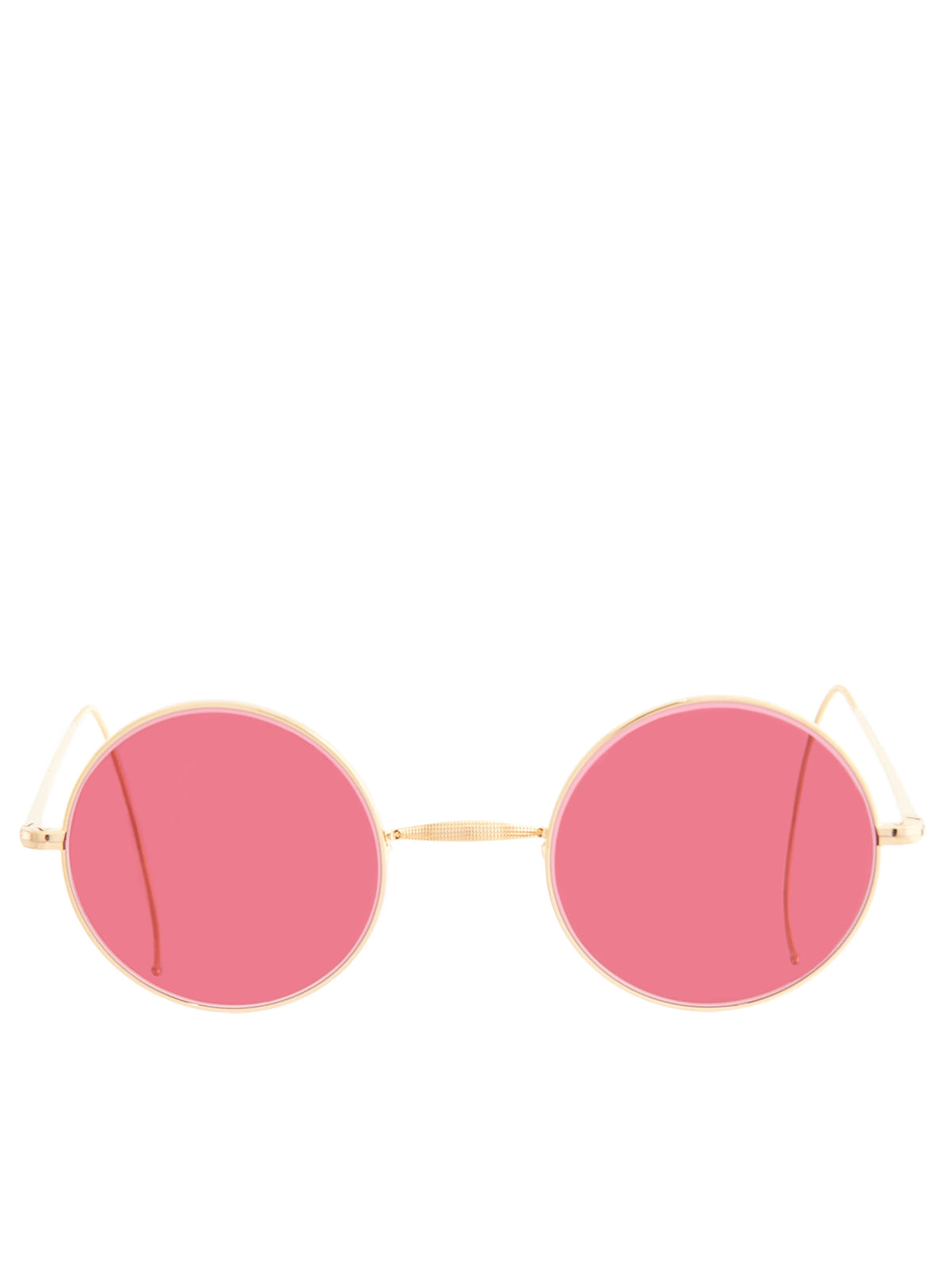 Round Cable Sunglasses (SPS-CLASSIC-ROUND-GP-23RED)