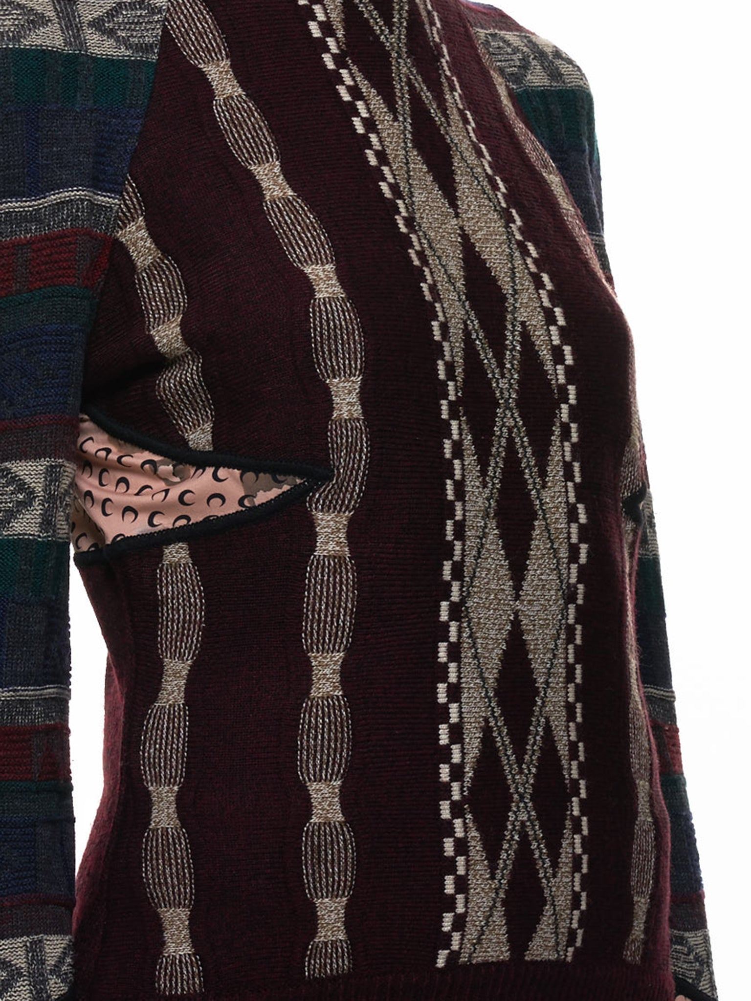 Patchwork Sweater (T056WU-BROWN)