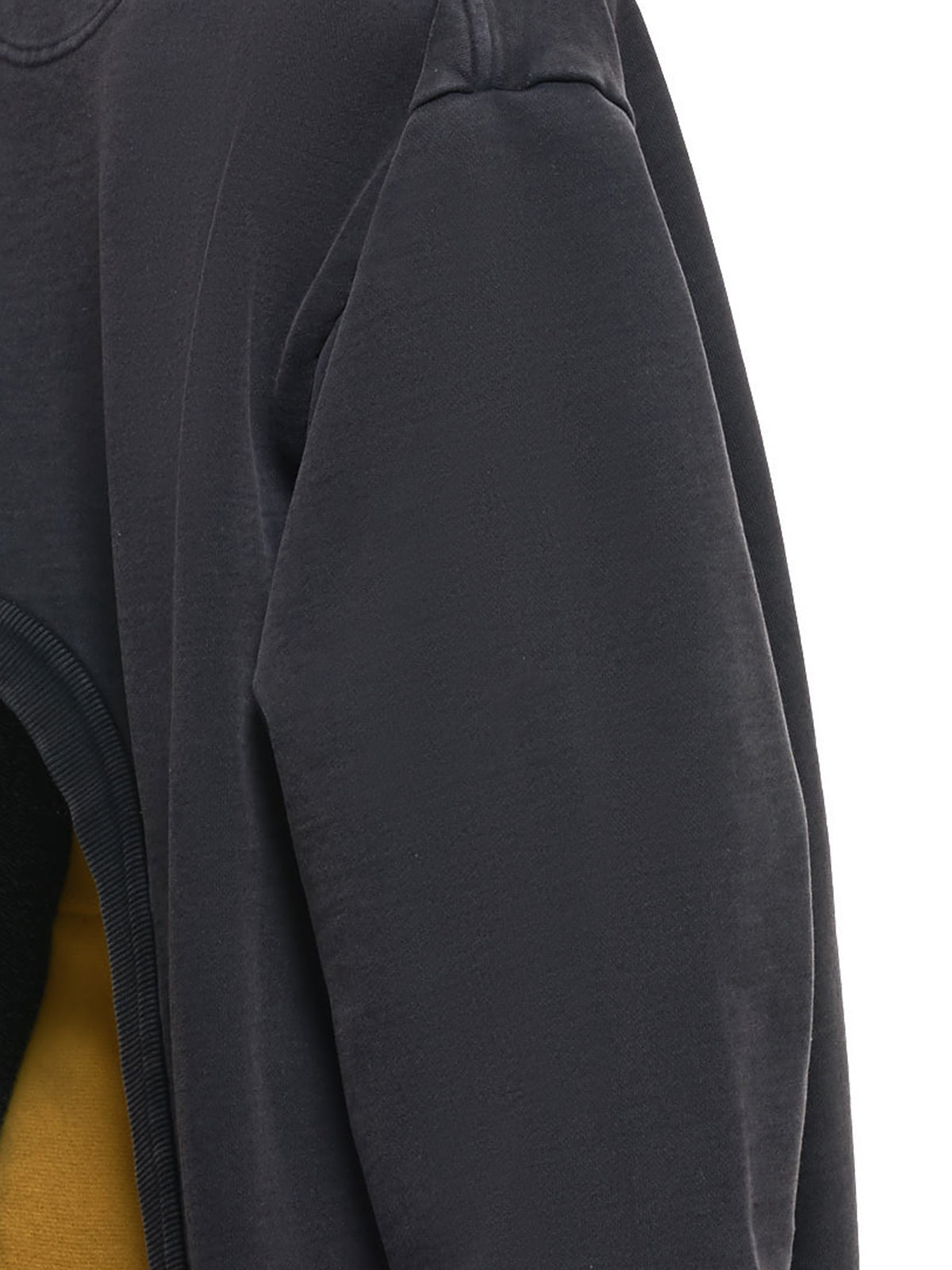 Extended V-Panel Cropped Sweatshirt (WSWEAT23-BLACK)