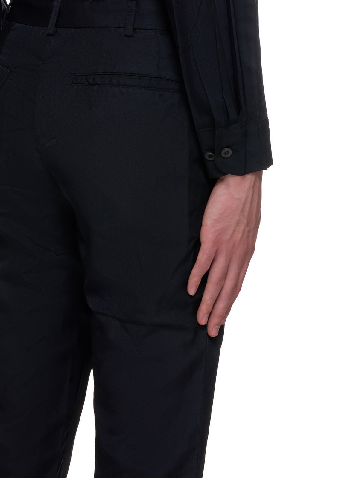 Cropped Wrinkle Trousers (PF-P051-051-BLACK)
