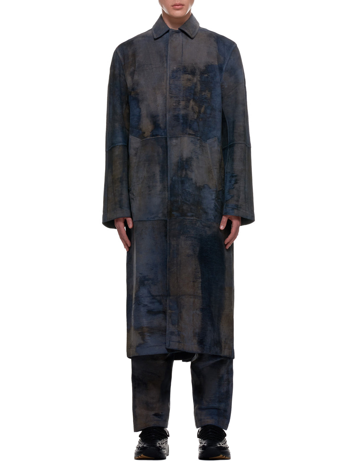 Sheep Leather Coat (001-08-STEEL-BLUE)