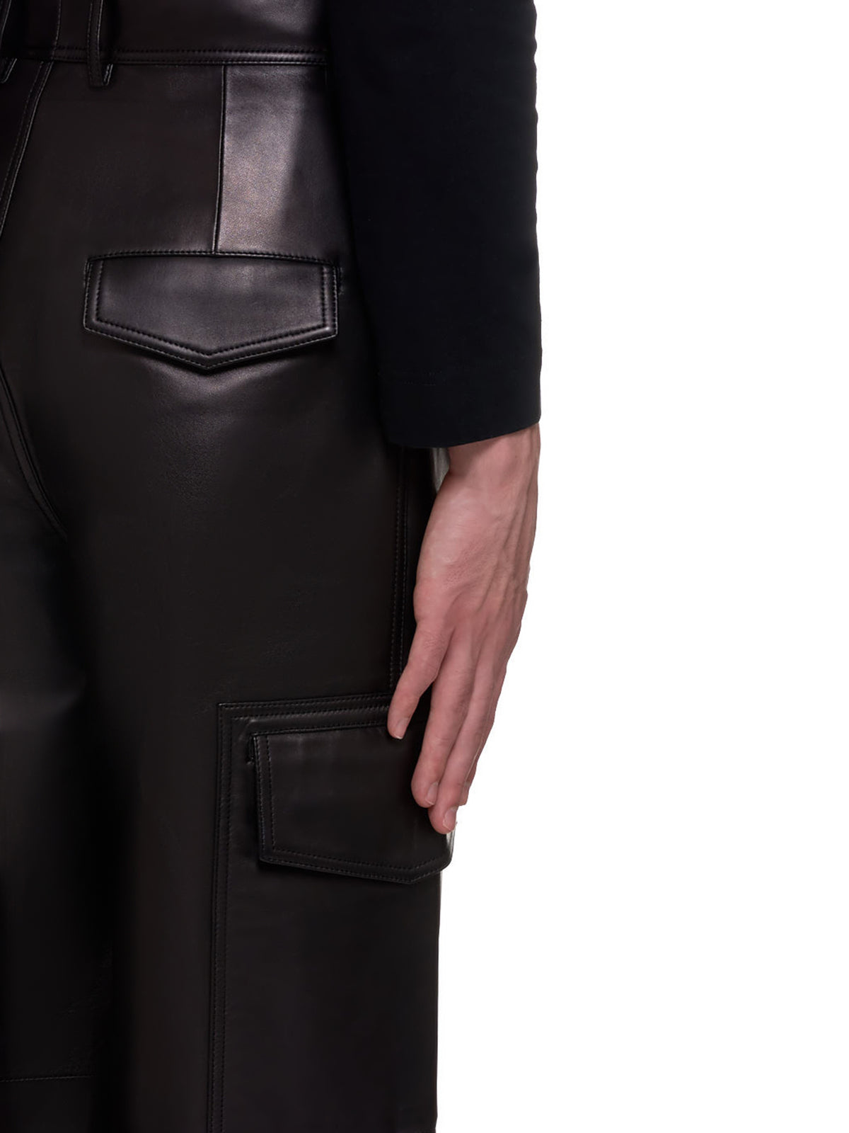 Sheep Leather Trousers (007-34-ASH-BLACK)