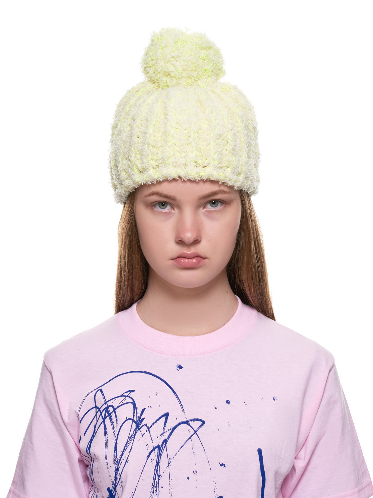 Fluffy Hat (RH1-P-FLUFFY-YELLOW-WHITE