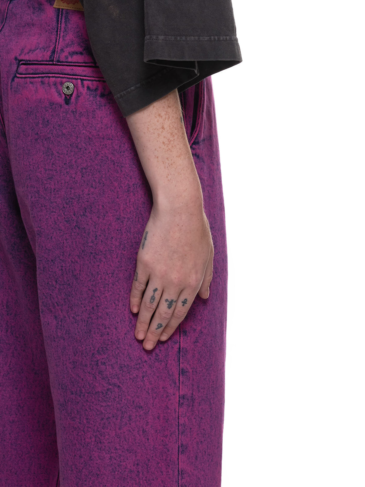 Fly Leg Dyed Stonewash Trousers (WJEANS25-PINK)