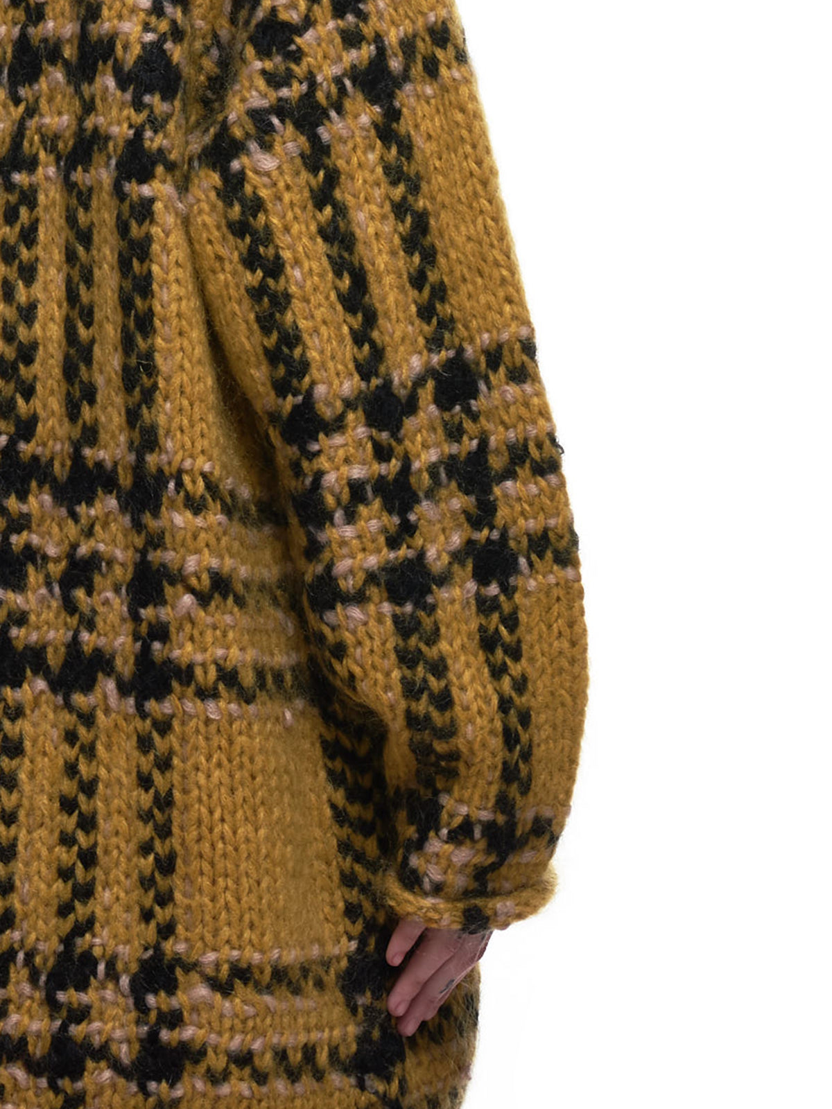Knitted Day Sweater (UCZ1911-1-YELLOW-CHECK)