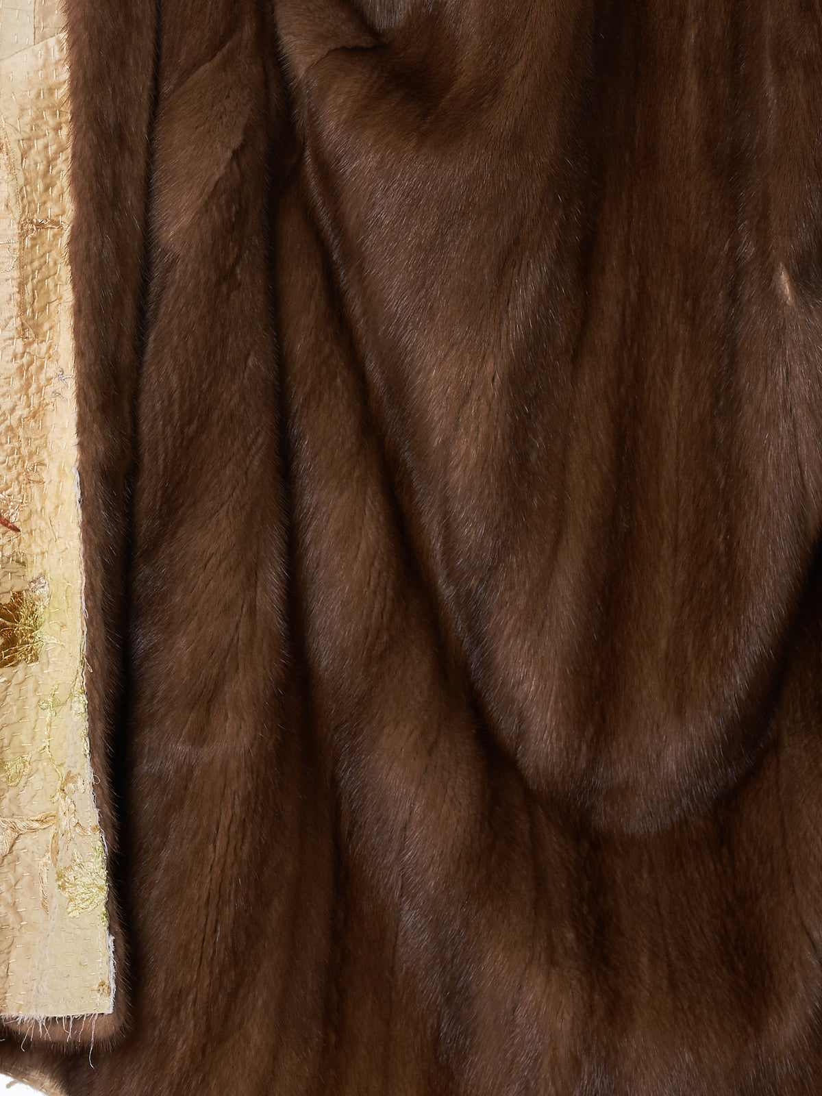 By Walid Fur Silk Coat - Hlorenzo Detail 2