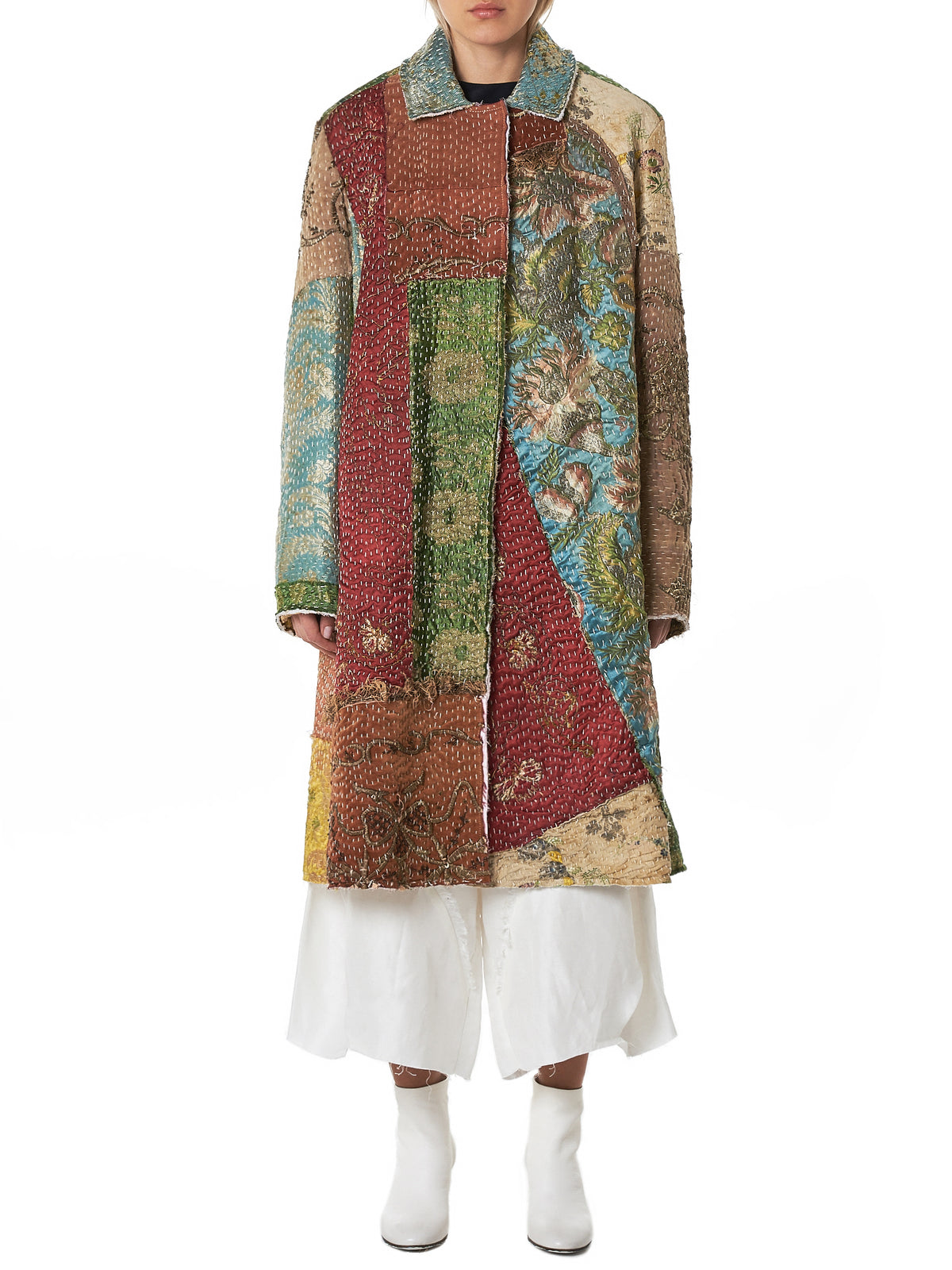 By Walid Embroidered Coat - Hlorenzo Front