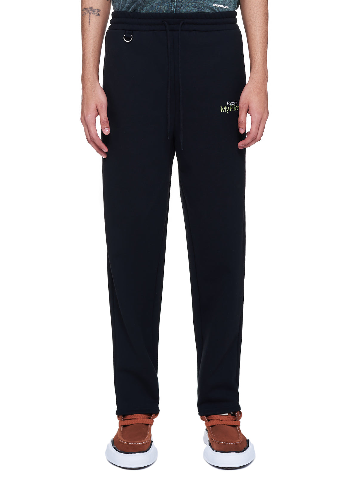 'With My Friend' Sweats Trousers (28PT149-BLACK)