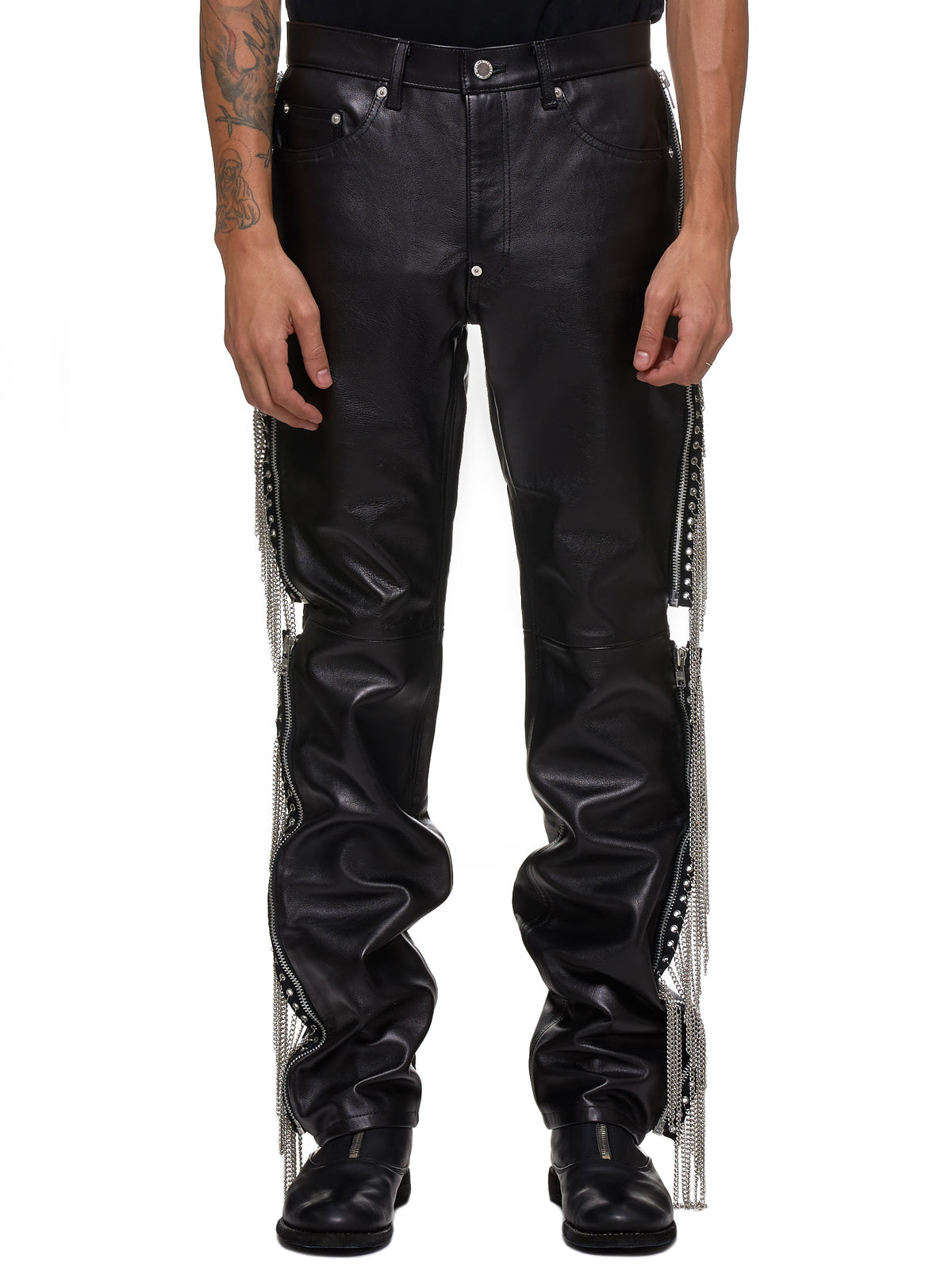 John Lawrence Sullivan Leather Pants - Hlorenzo Front