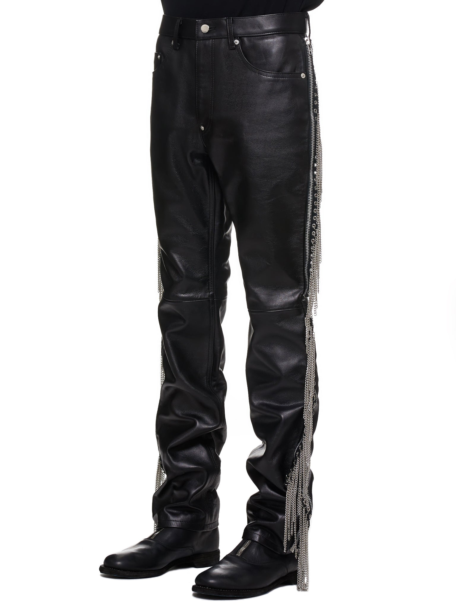 John Lawrence Sullivan Leather Pants - Hlorenzo Side
