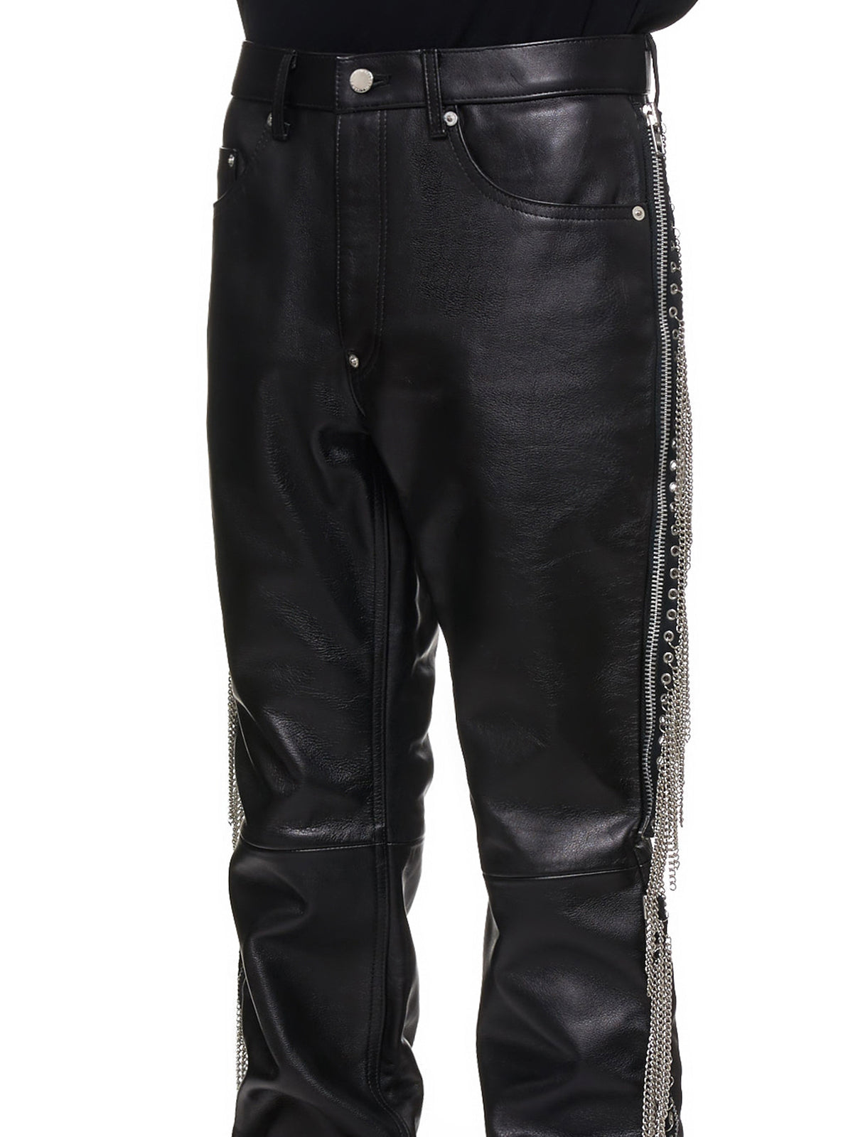 John Lawrence Sullivan Leather Pants - Hlorenzo Detail 2