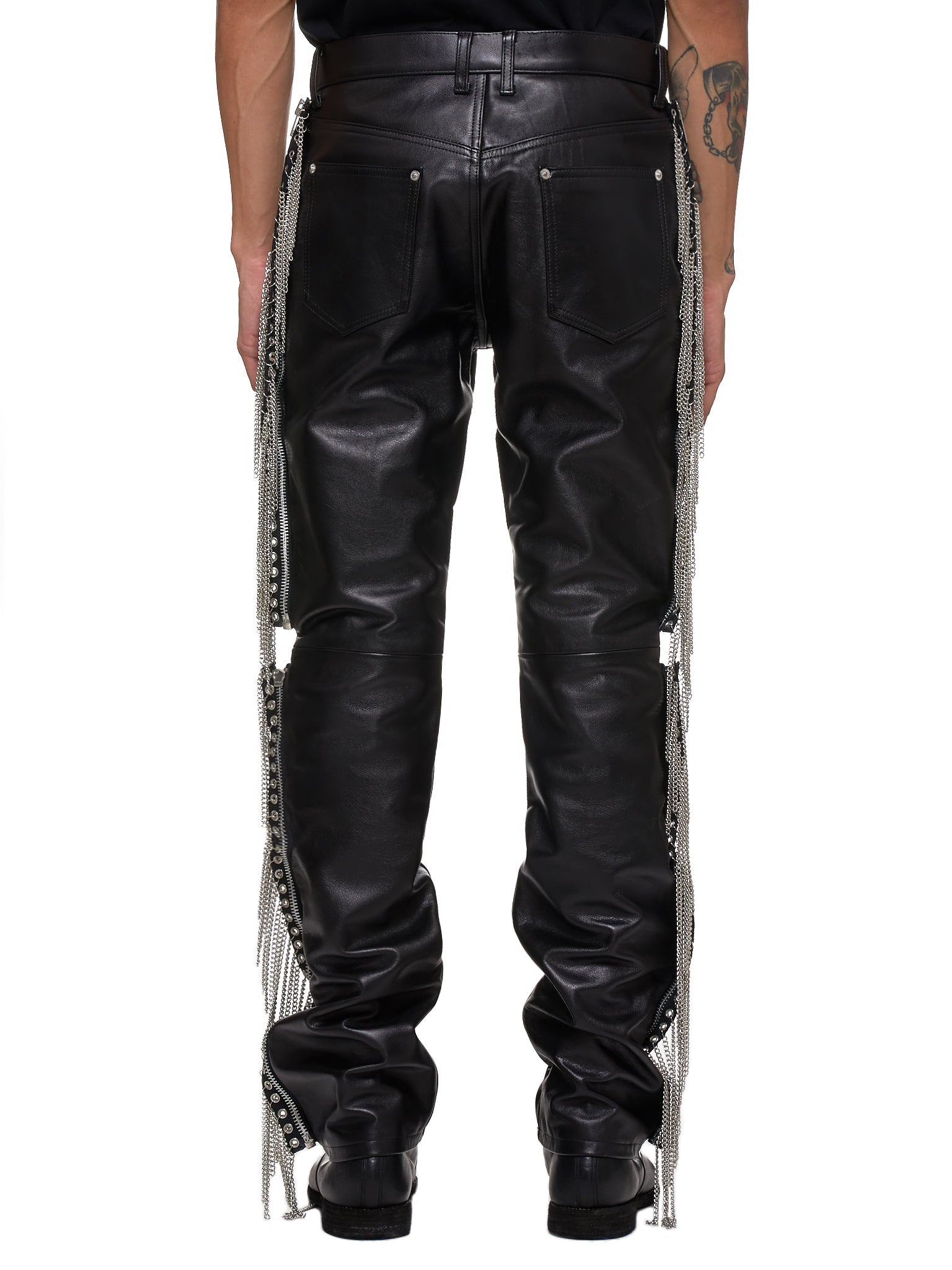 John Lawrence Sullivan Leather Pants - Hlorenzo Back