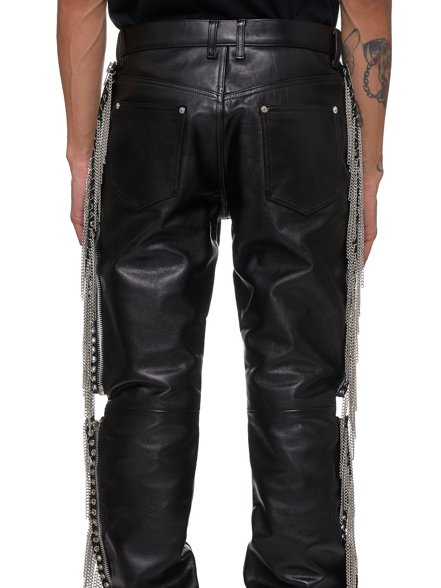John Lawrence Sullivan Leather Pants - Hlorenzo Detail 1