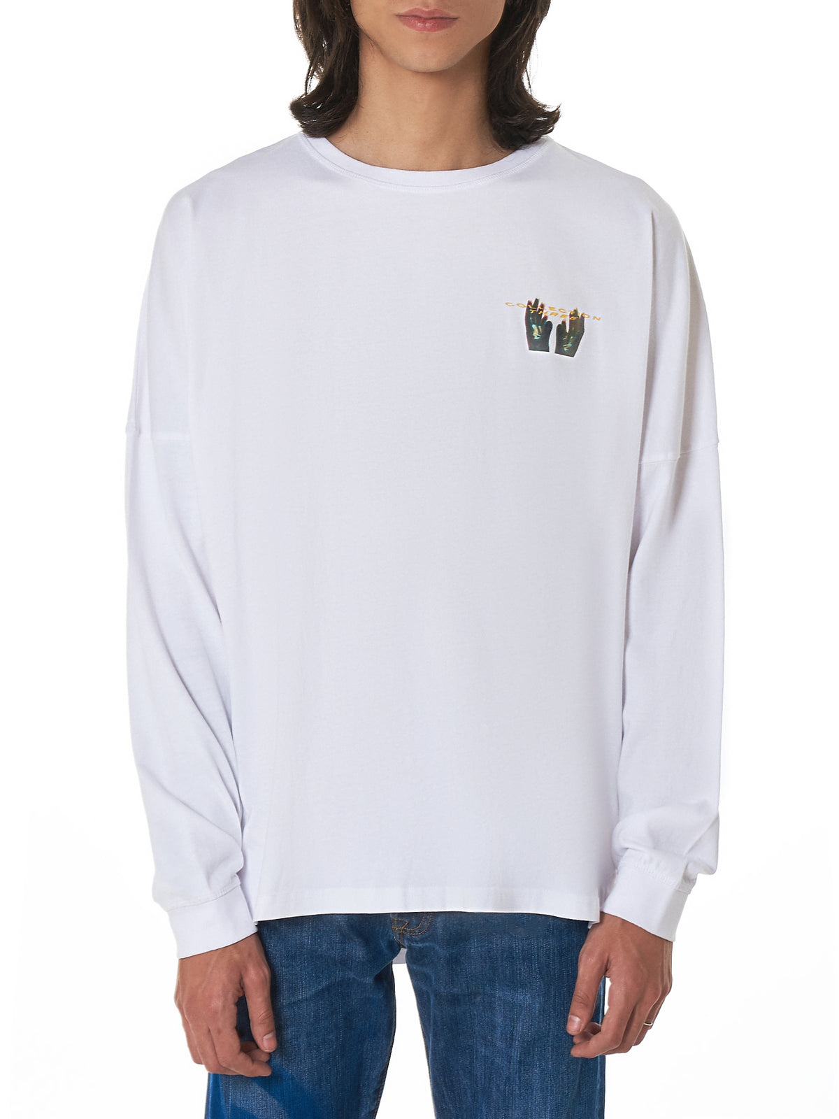 Geo Long-Sleeve Tee Shirt - Hlorenzo Front
