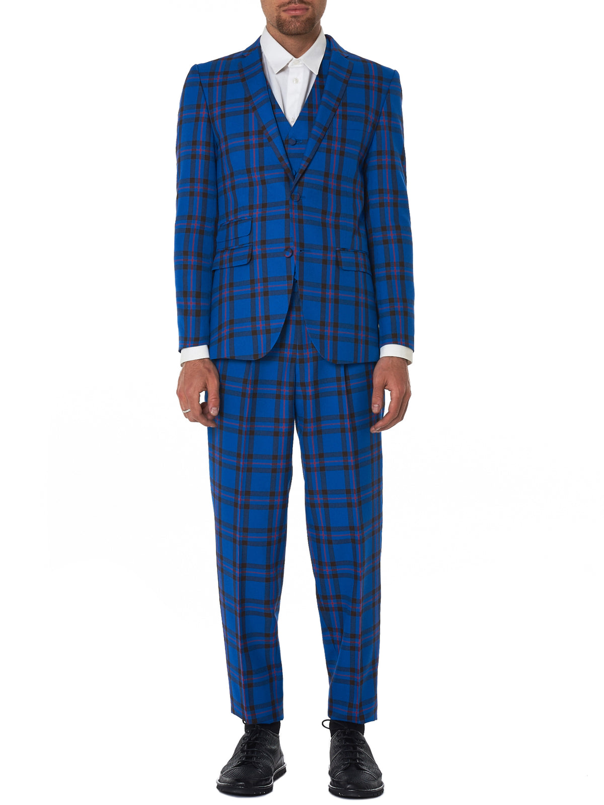 Kidill Plaid Suit - Hlorenzo Front