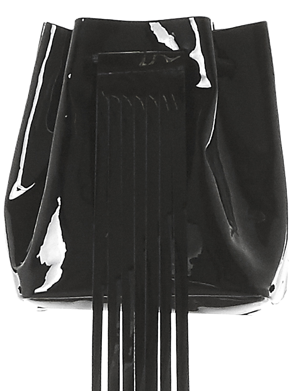 Polished Fringe Bag (3.17 MINI BUCKET BLACK-GLOSSY) - H. Lorenzo