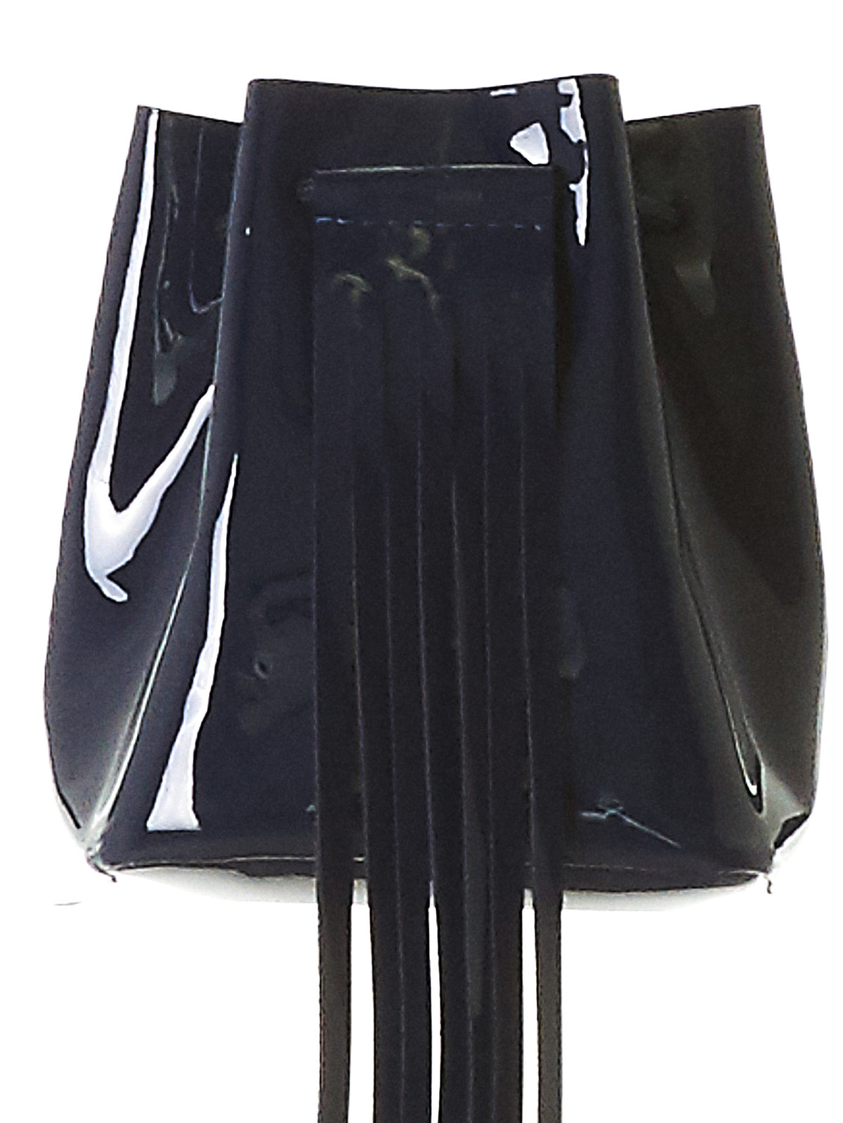 Polished Fringe Bag (3.17 MINI BUCKET NAVY-GLOSSY) - H. Lorenzo