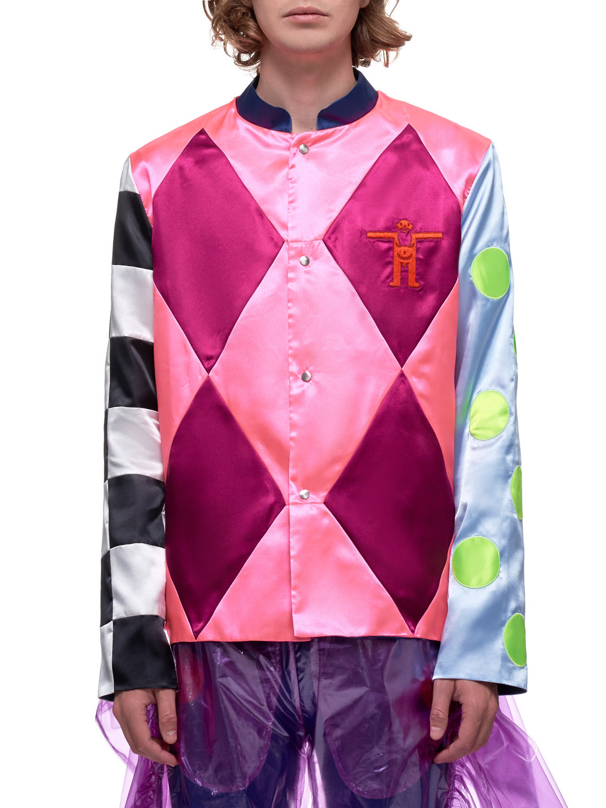 Diamonds Jockey Shirt (3006-PINK-MULTI)