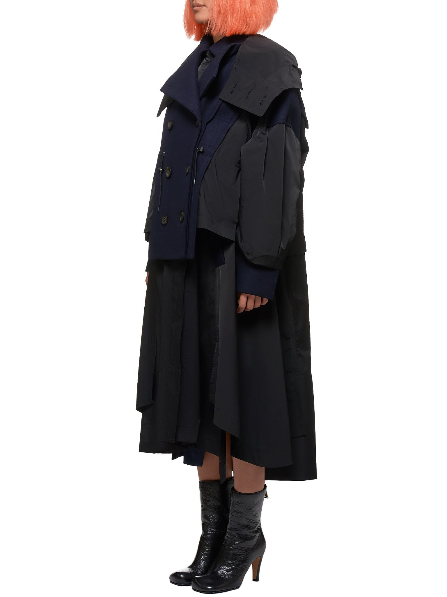 Enfold Coat - Hlorenzo Side
