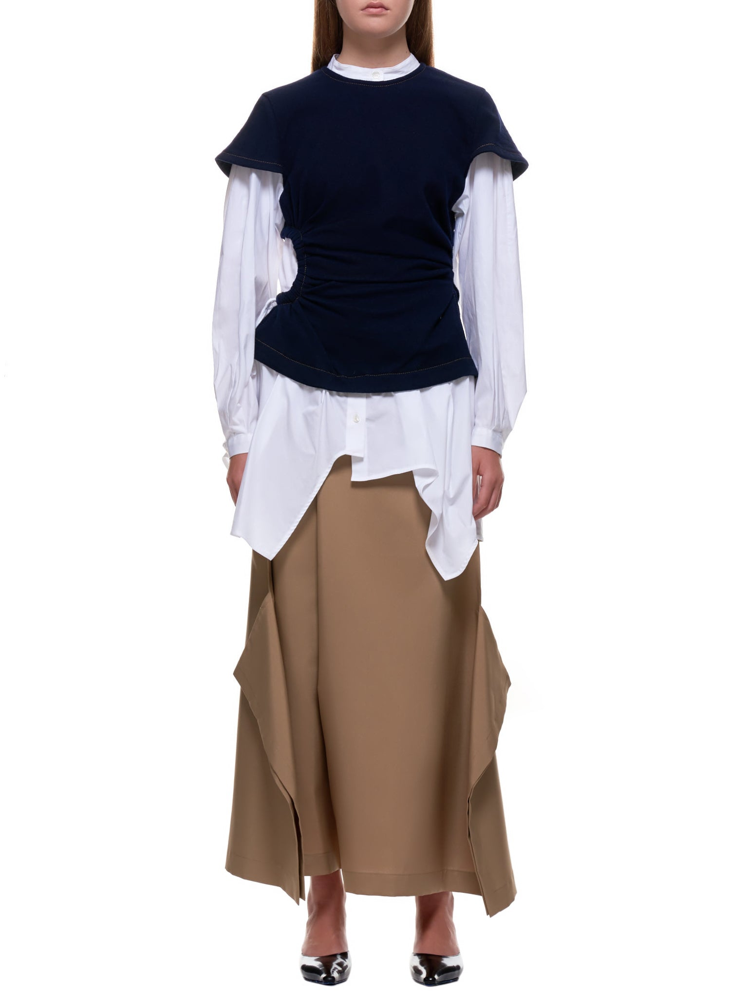 Uniform Shirt (300DA330-2760-WHITE-NAVY)