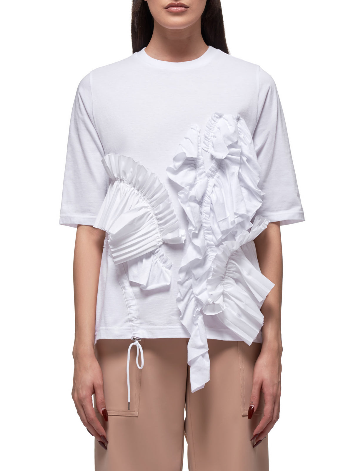Frilled T-Shirt (300DS380-2400-WHITE)