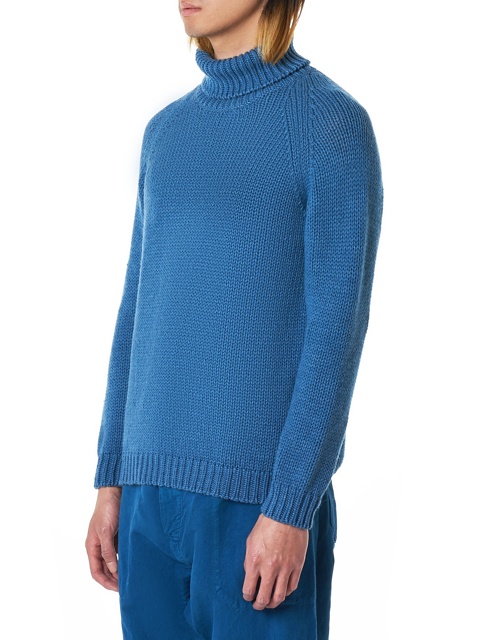 Bleu de Cocagne Turtleneck Sweater - Hlorenzo Side