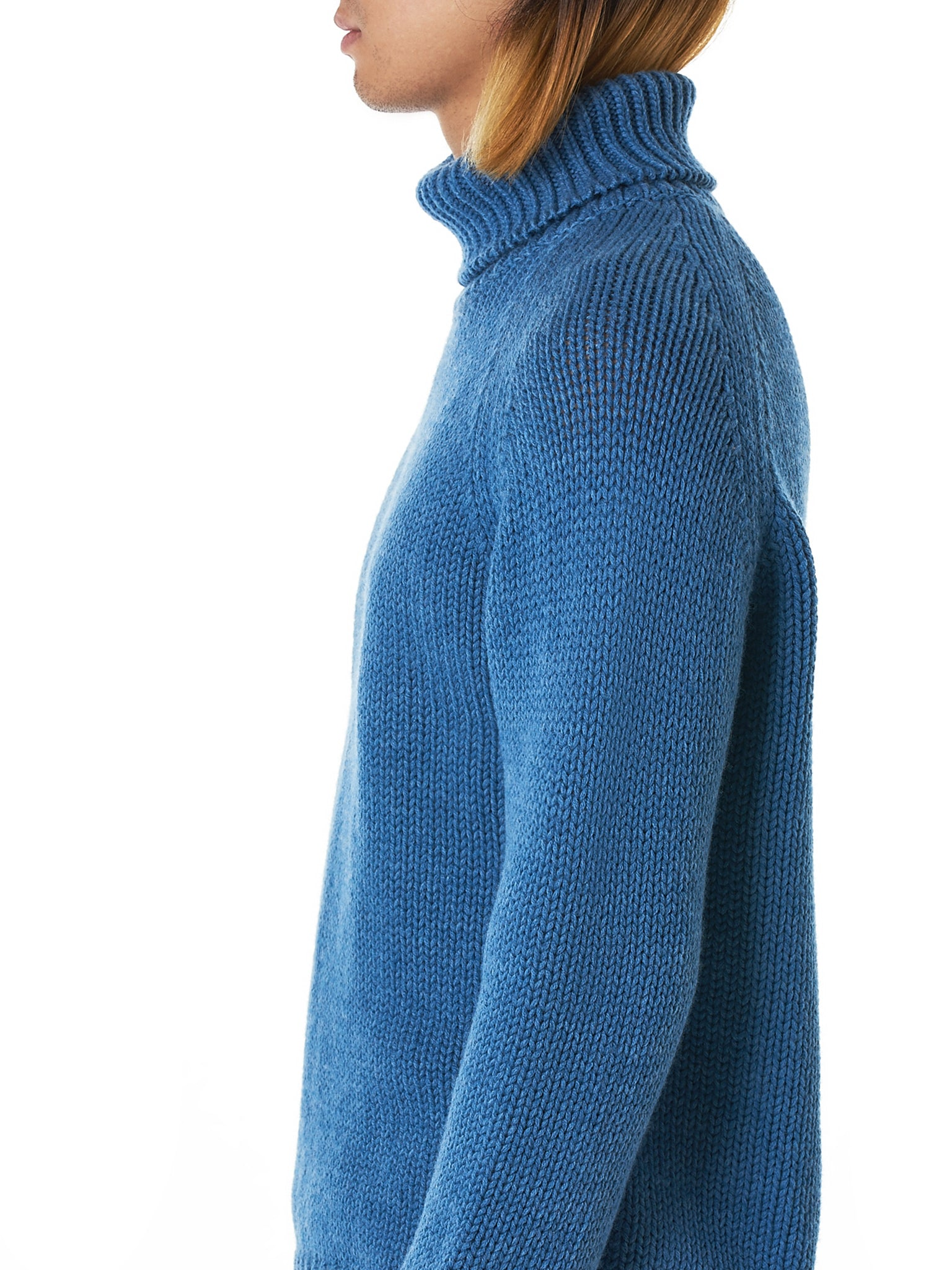 Bleu de Cocagne Turtleneck Sweater - Hlorenzo Detail 2